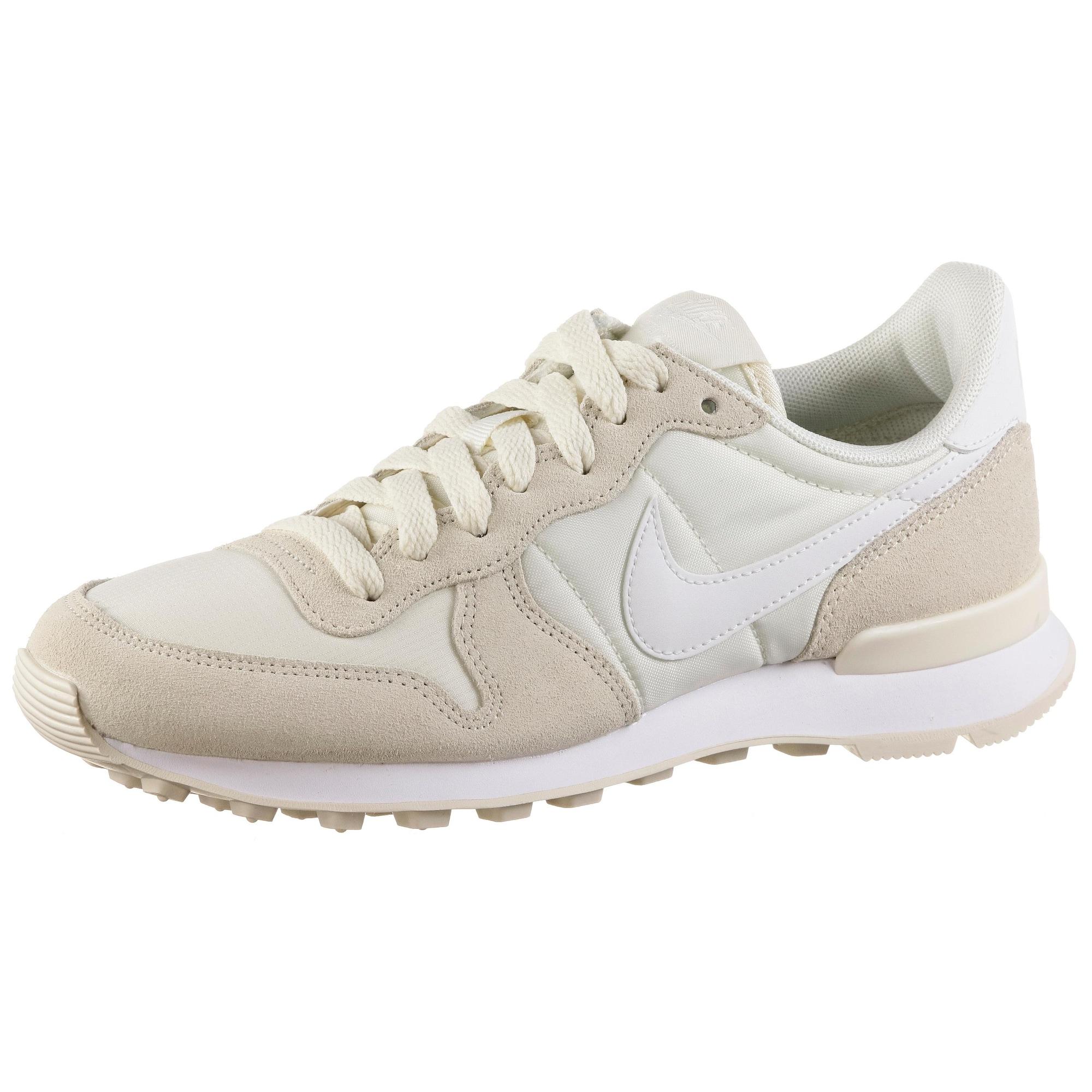 Nike Sportswear, Dames Sneakers laag 'Internationalist', beige / wit