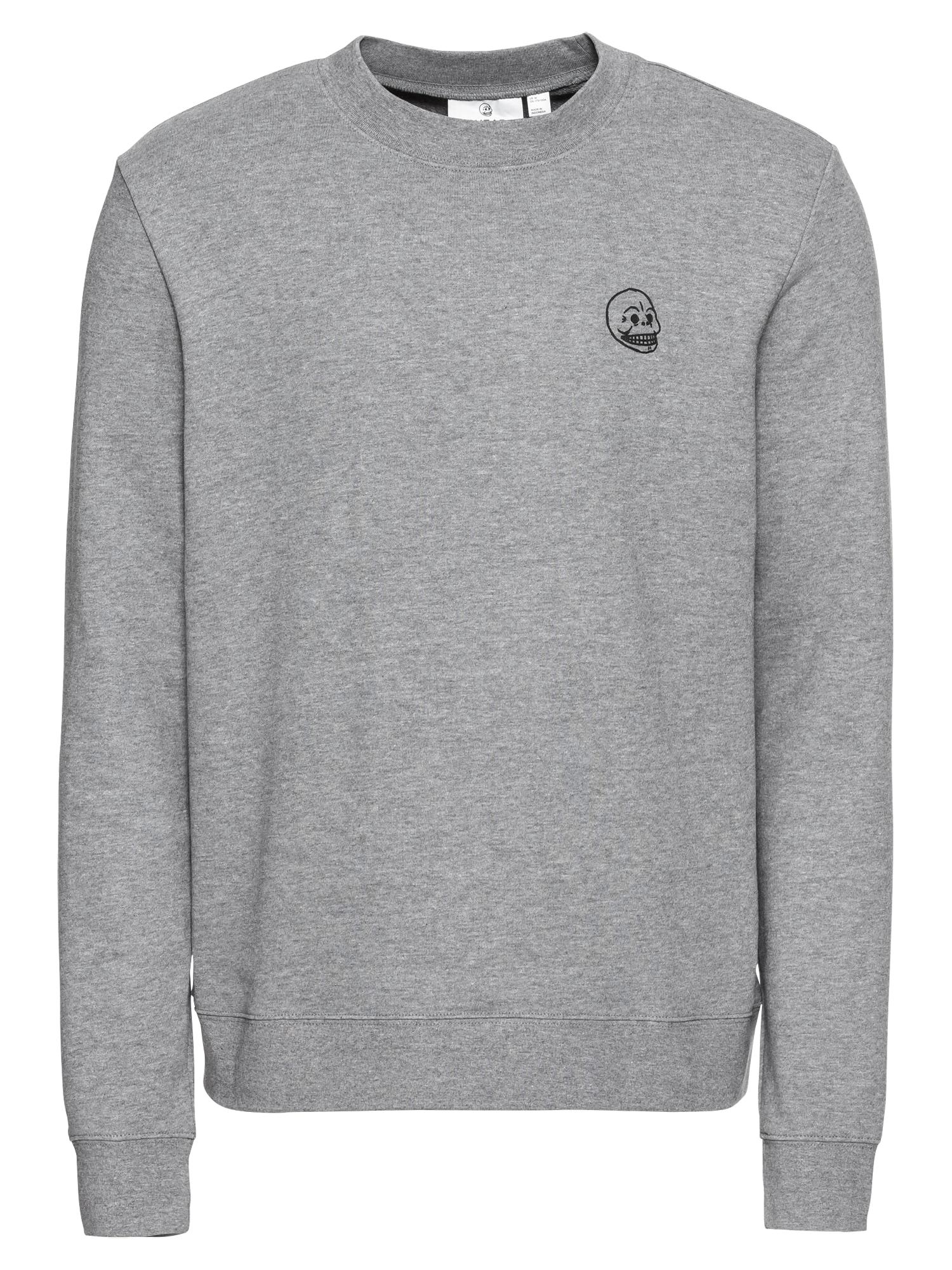 CHEAP MONDAY Heren Sweatshirt Worth sweat Tiny skull grijs gemêleerd