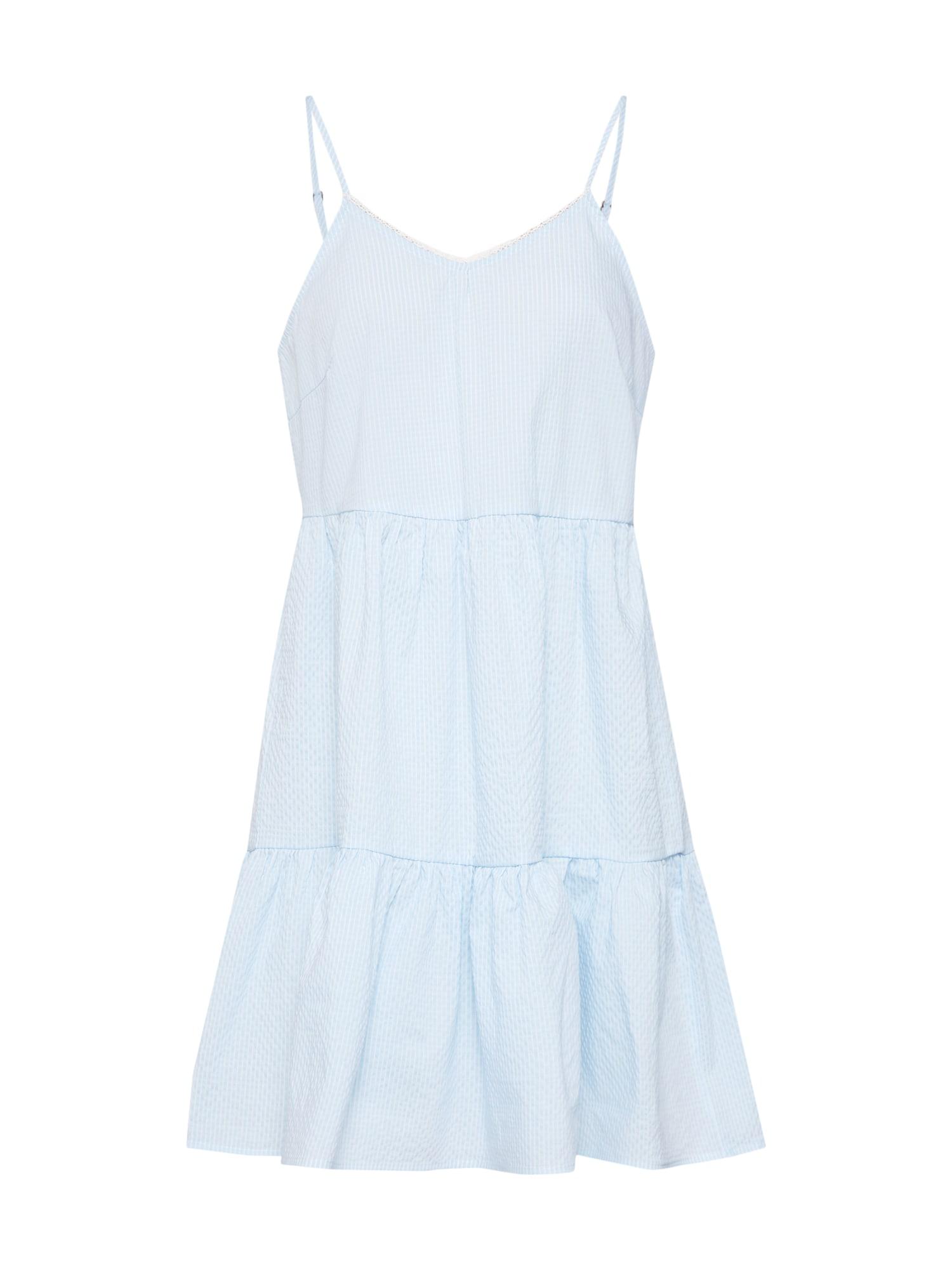 Letní šaty VMJANE ABK SINGLET DRESS modrá bílá VERO MODA