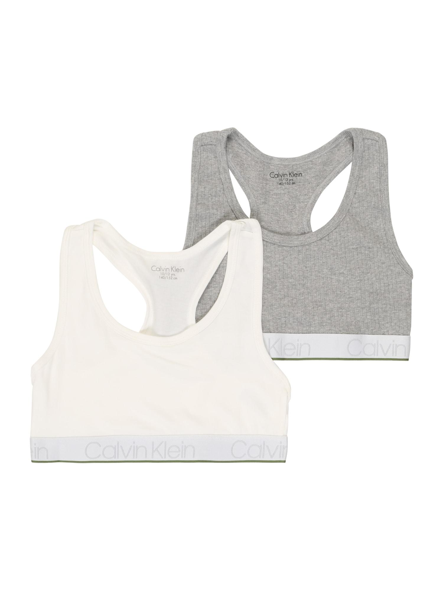 Calvin Klein Underwear Podprsenka  šedý melír / bílá