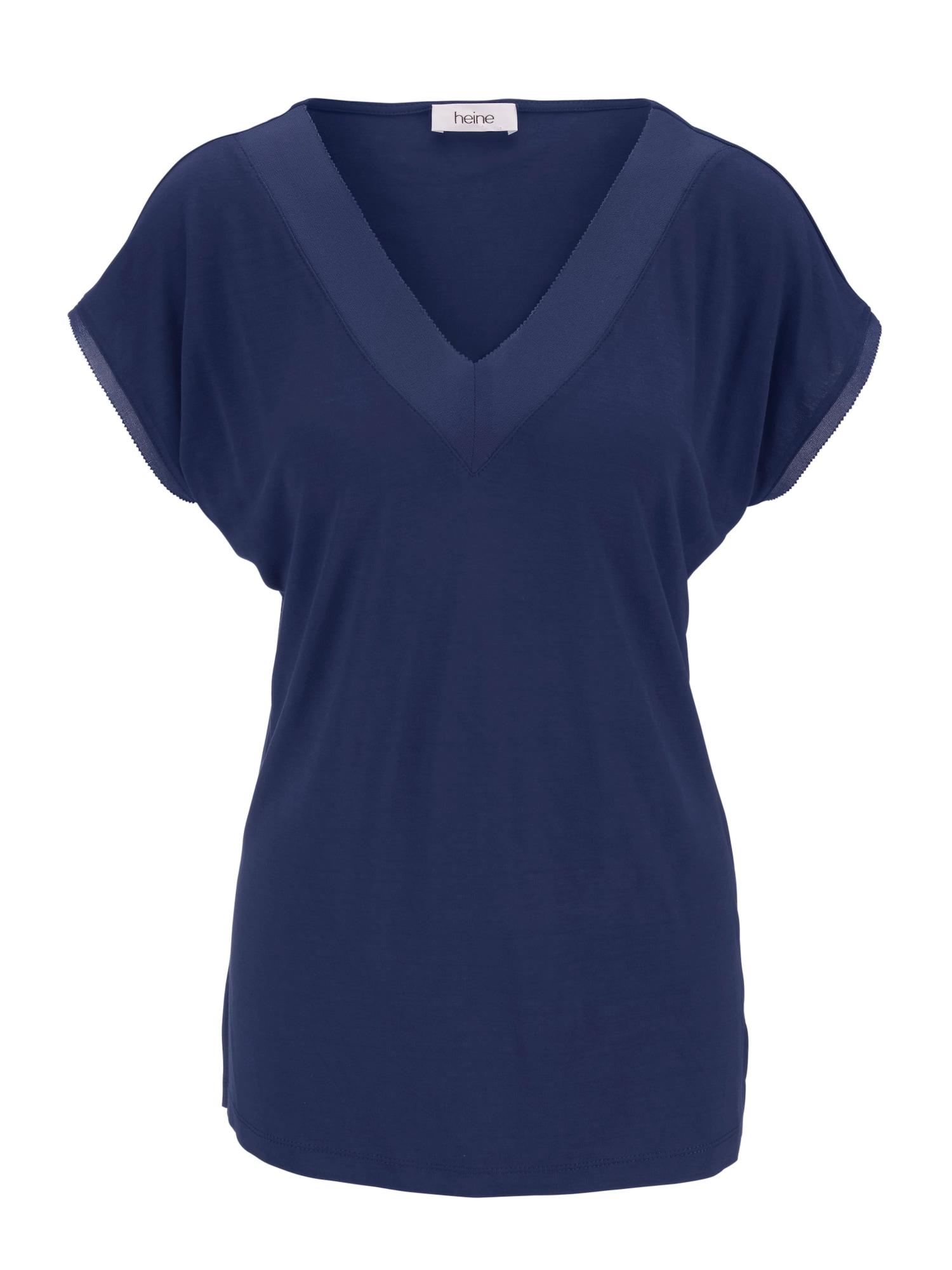 Tričko marine modrá tmavě modrá Heine