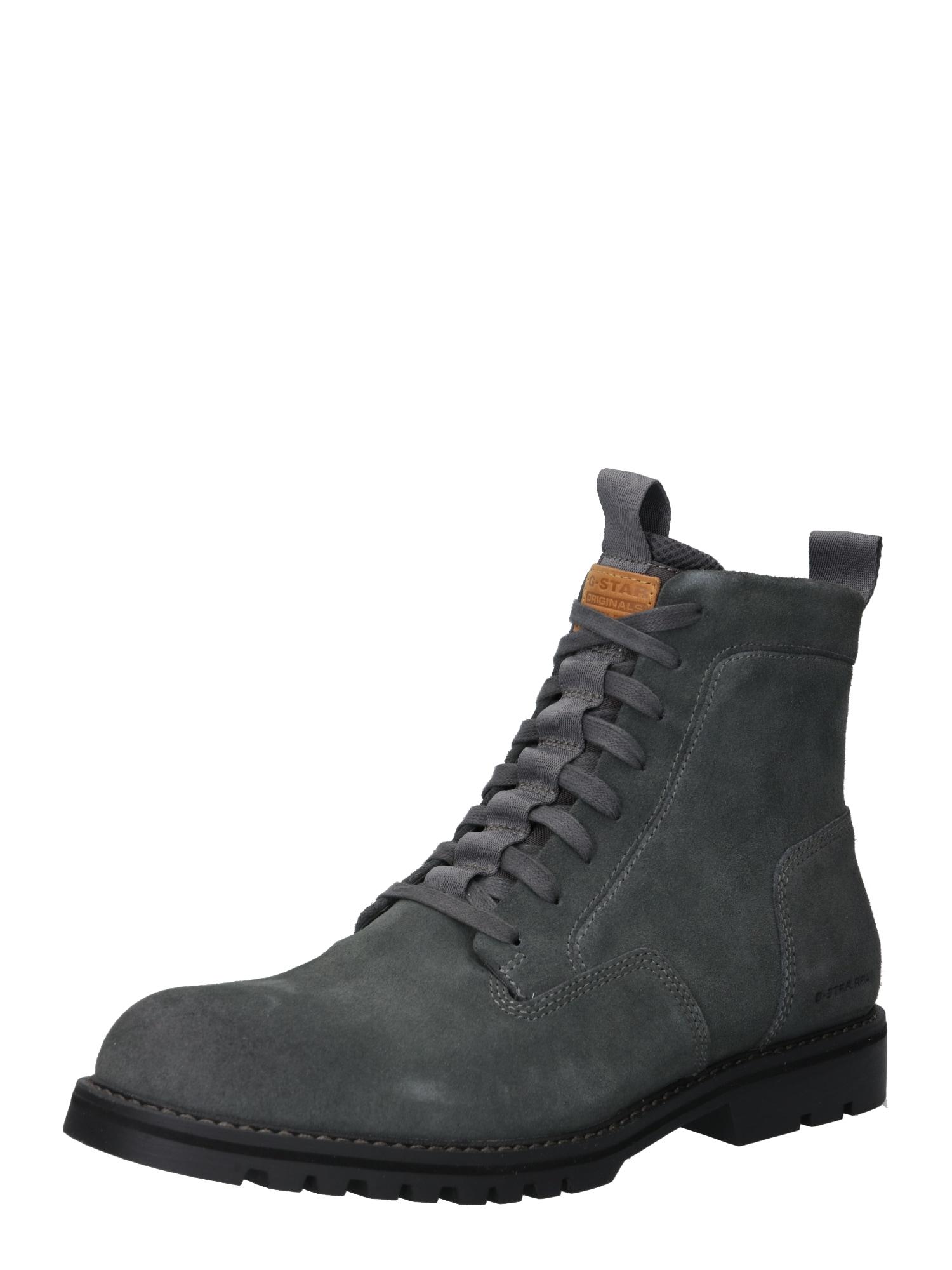 Šněrovací boty Landoh šedá G-STAR RAW