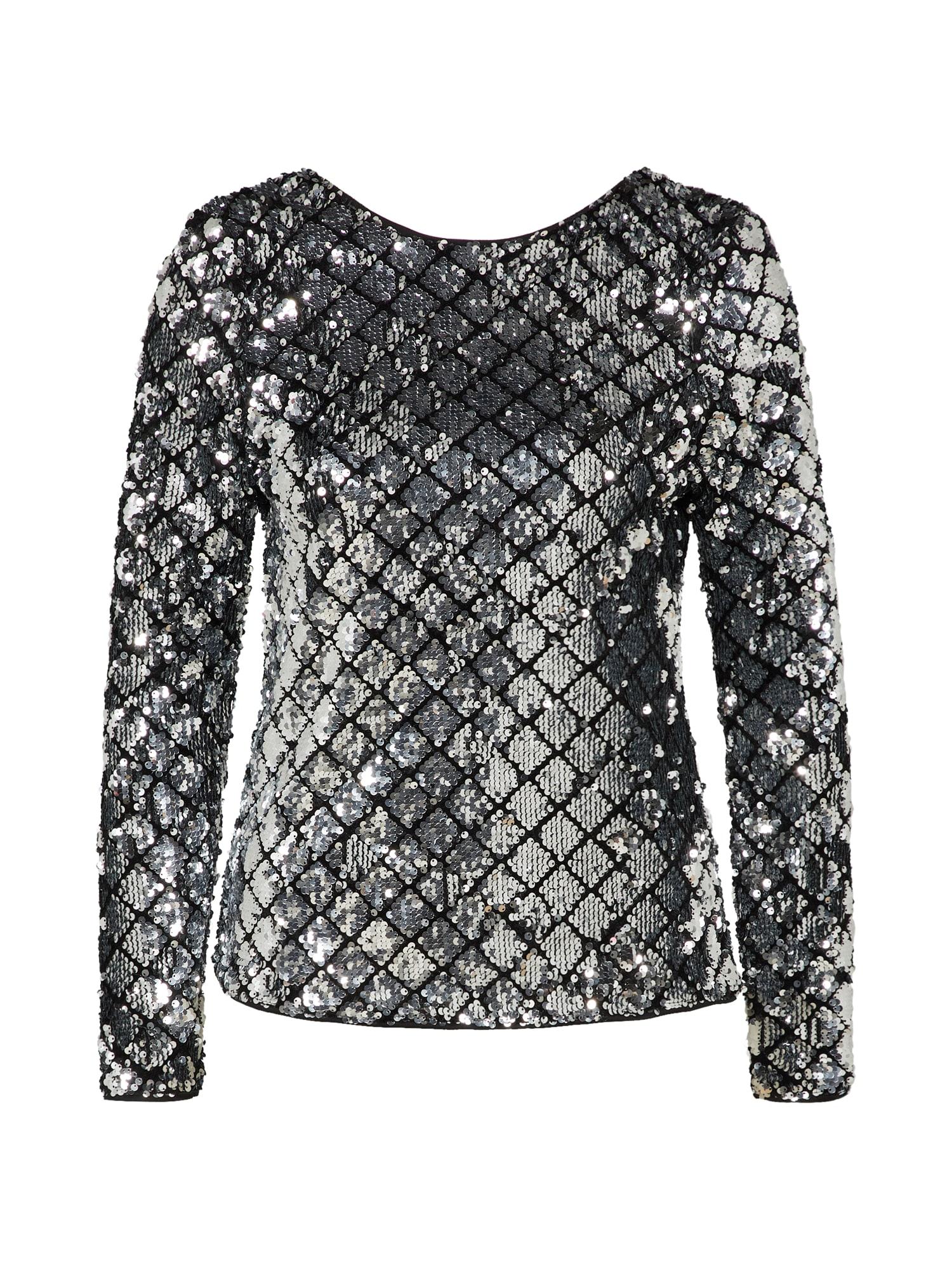 Tričko černá stříbrná ICHI