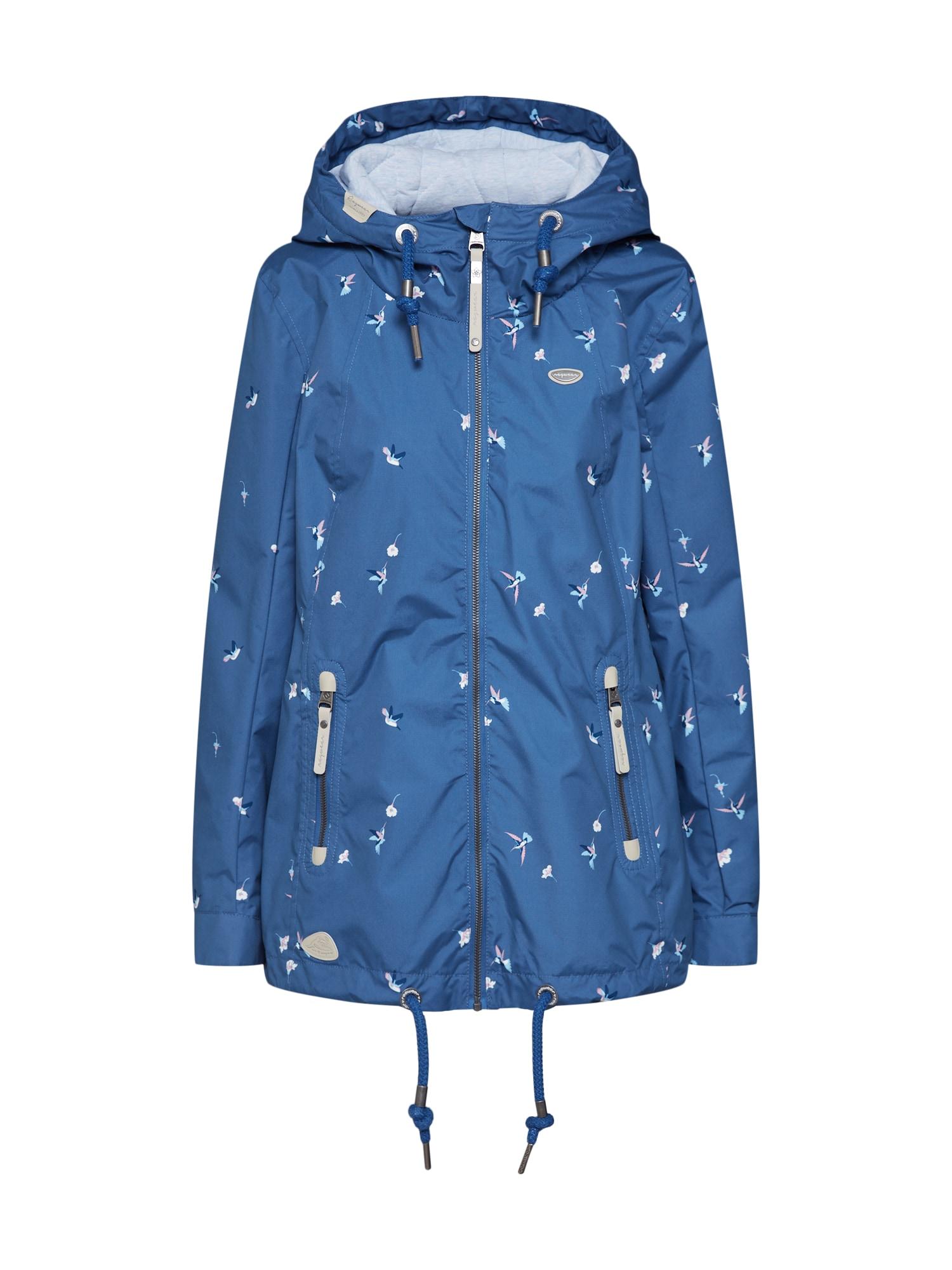 Přechodná bunda Zuzka světlemodrá tmavě modrá korálová Ragwear