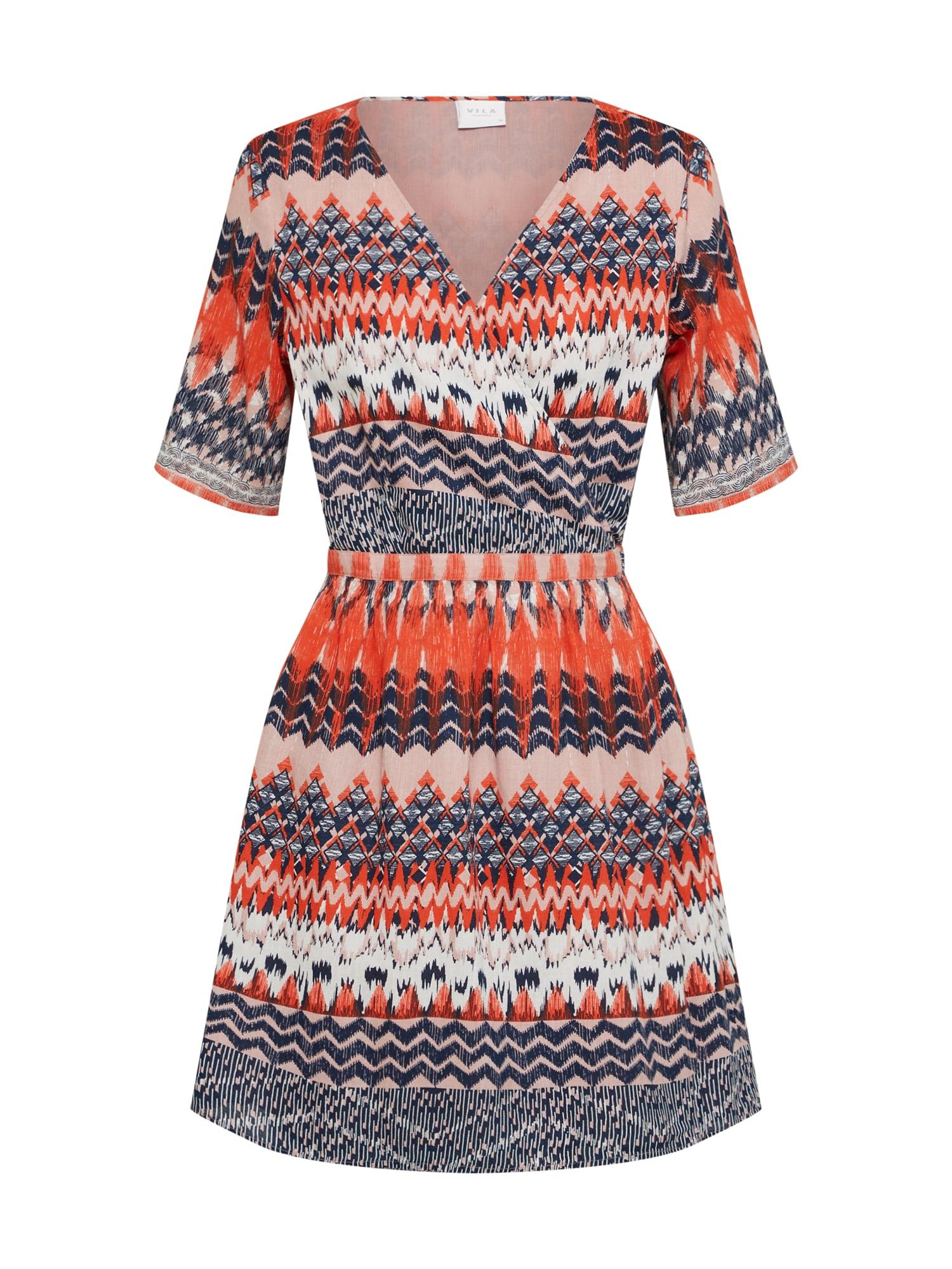Letní šaty VISANDRO oranžová černá VILA