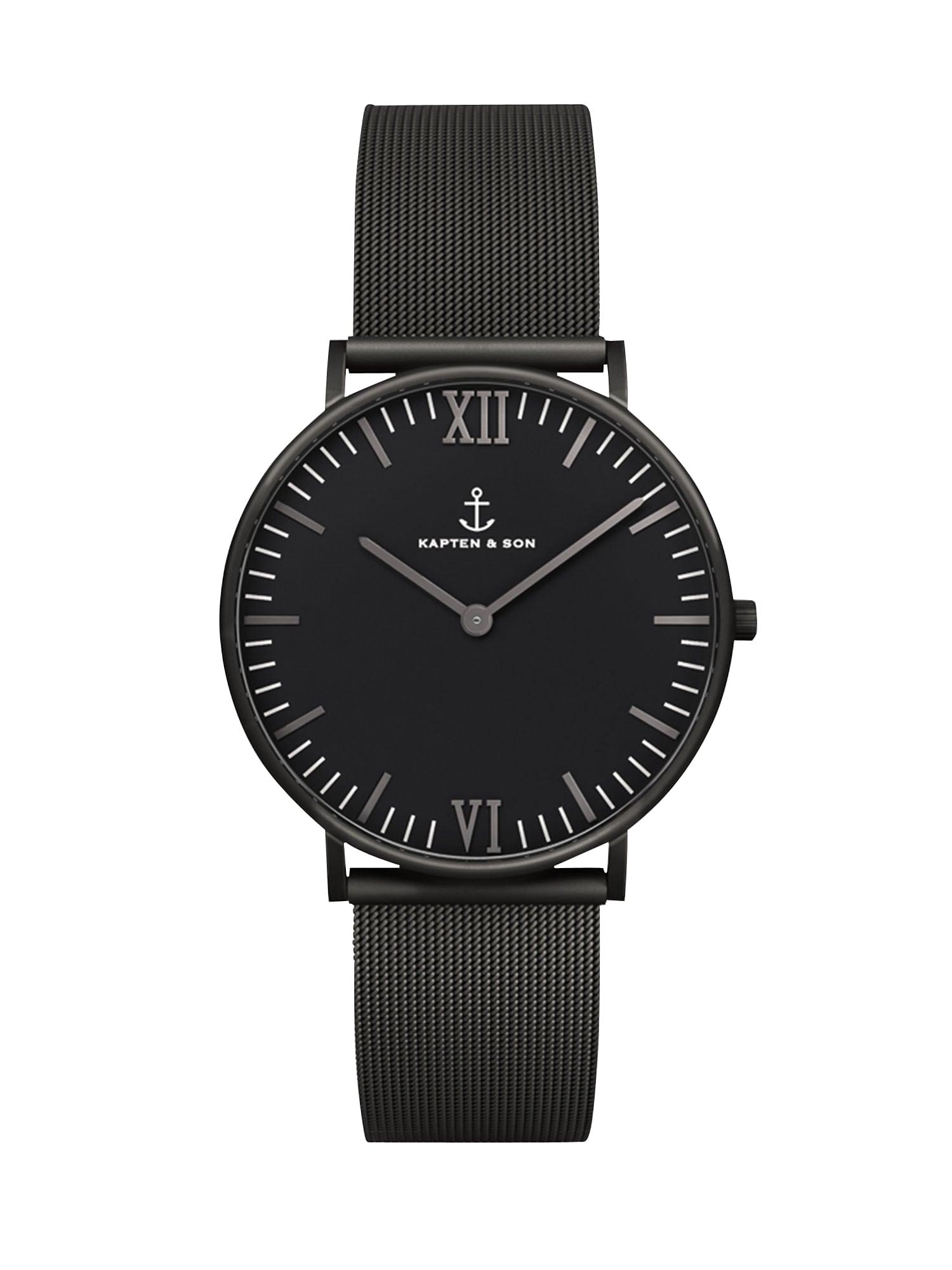 Analogové hodinky Campus černá Kapten & Son