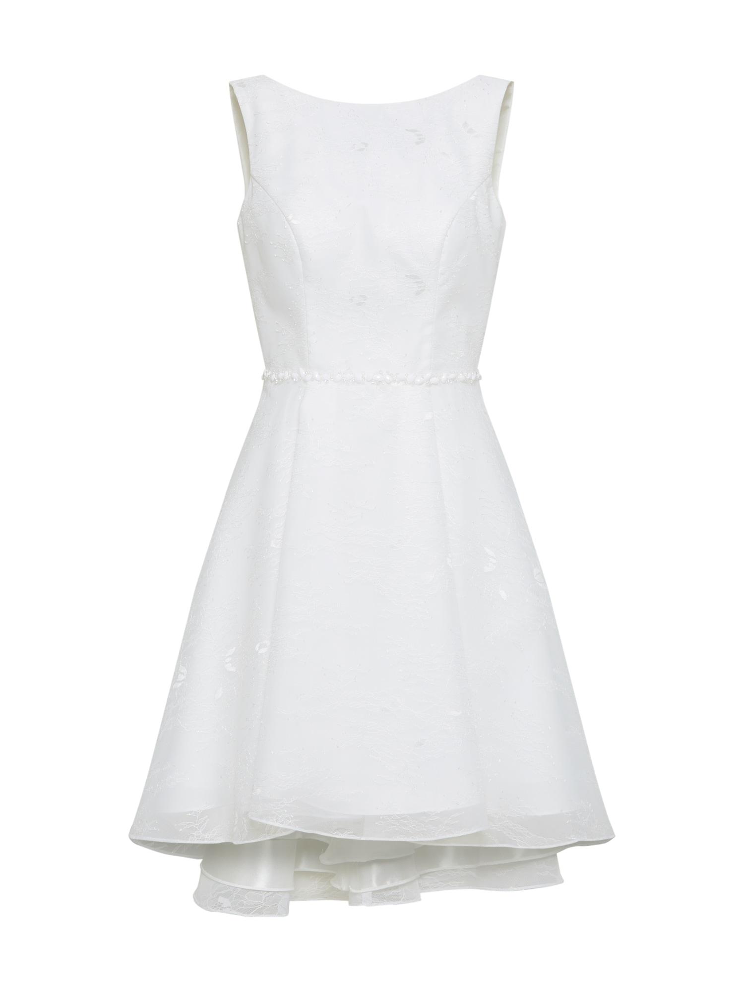Koktejlové šaty bílá Unique