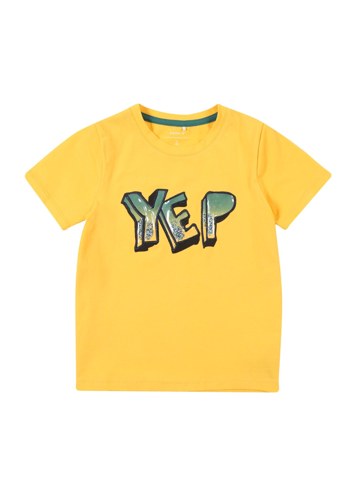 Tričko žlutá zelená NAME IT