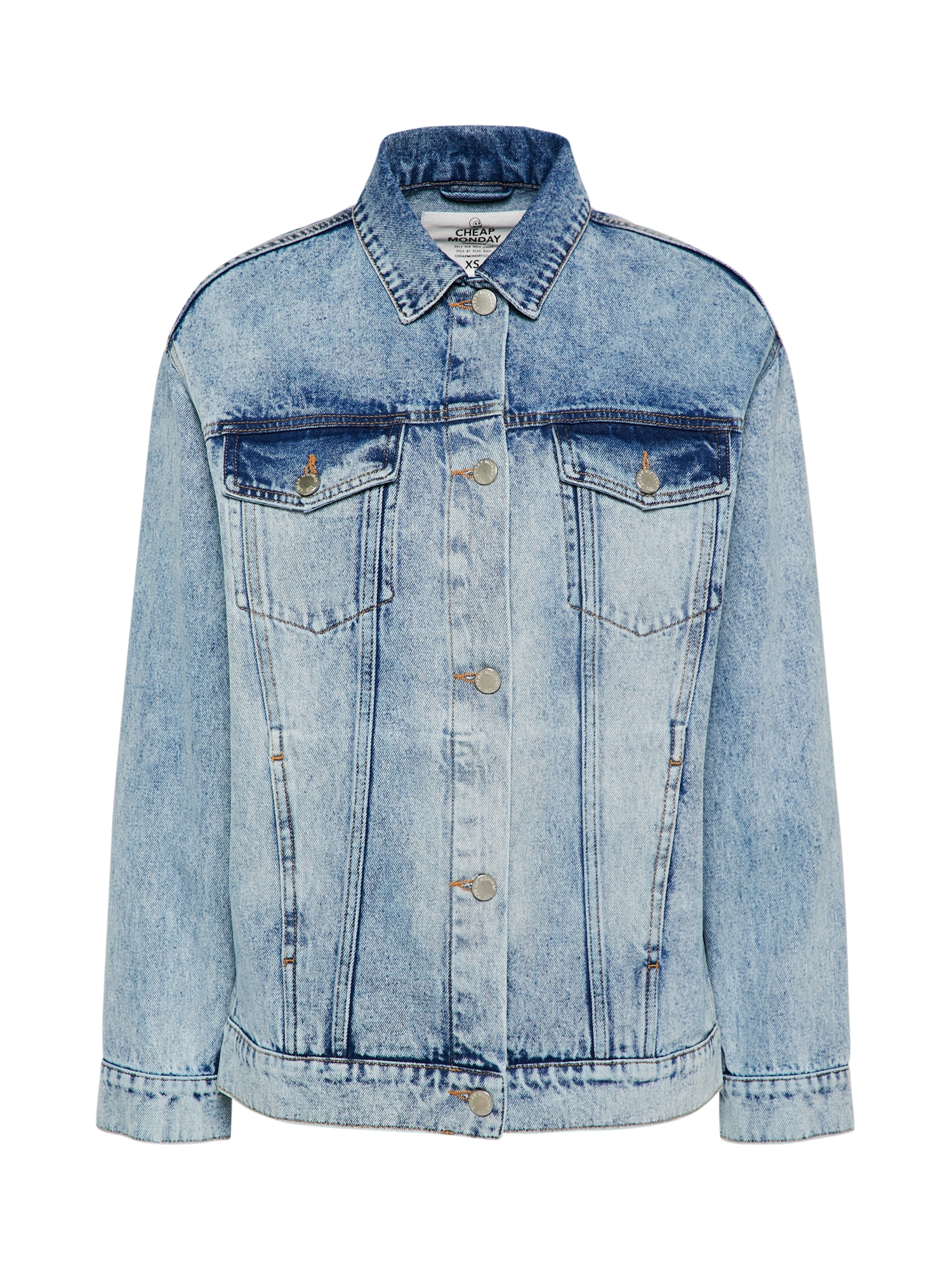 CHEAP MONDAY Dames Tussenjas Upsize Jacket blue denim