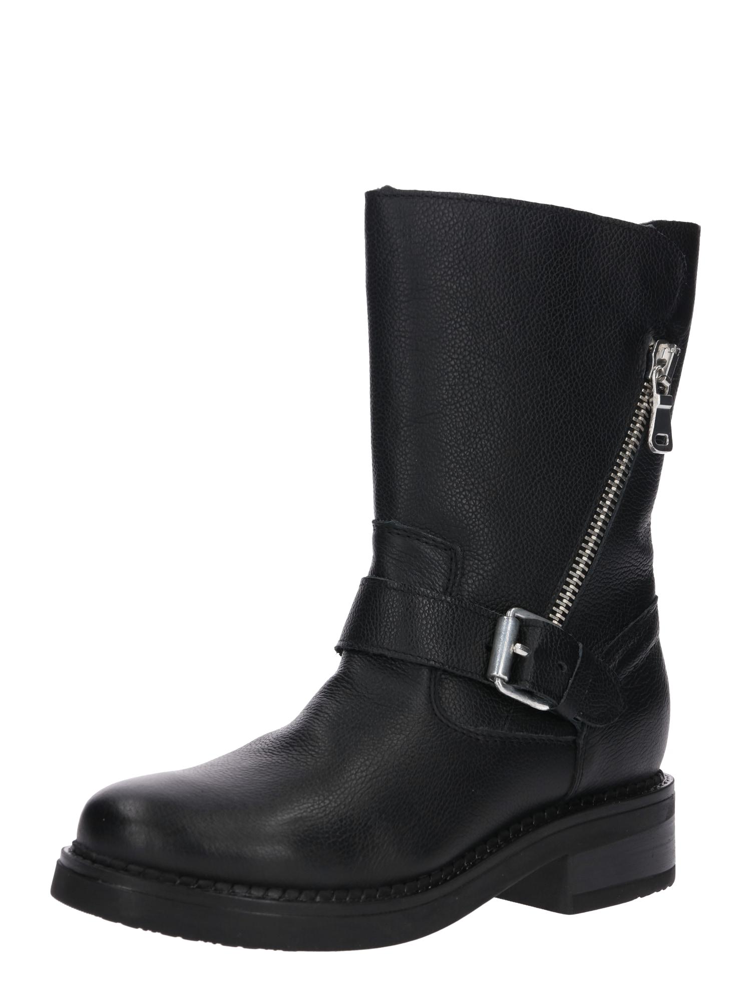Kotníkové boty černá Zign