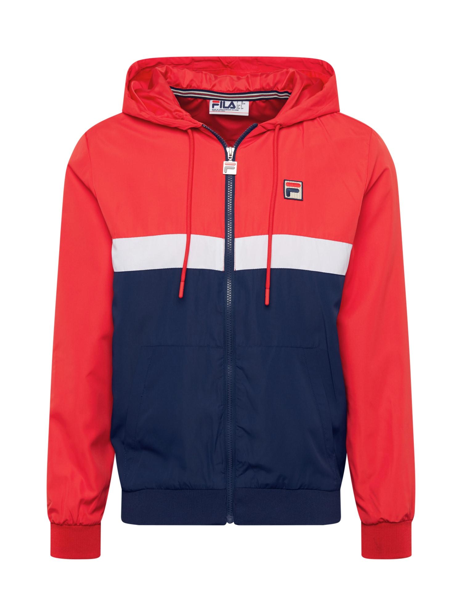 Mikina s kapucí  tmavě modrá  červená FILA