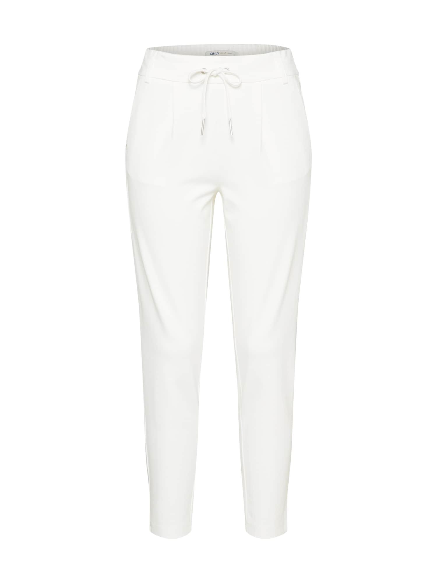 Kalhoty se sklady v pase Poptrash bílá ONLY