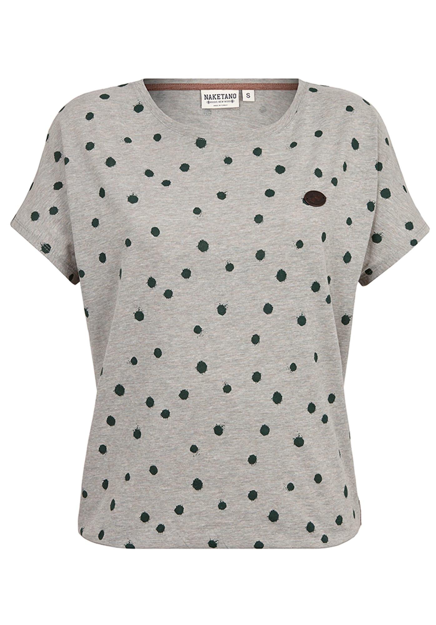 Tričko šedý melír zelená Naketano