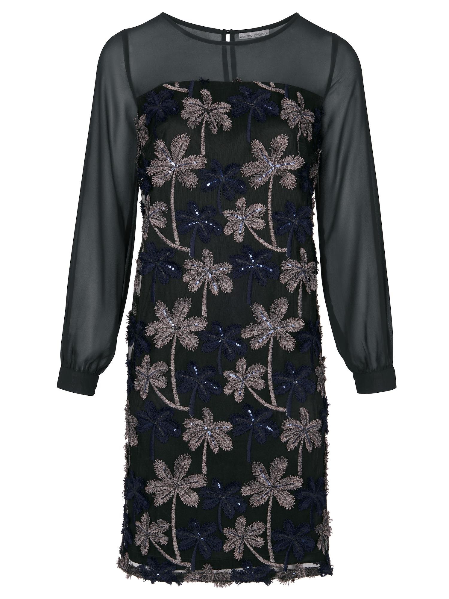Koktejlové šaty světle béžová námořnická modř černá Heine