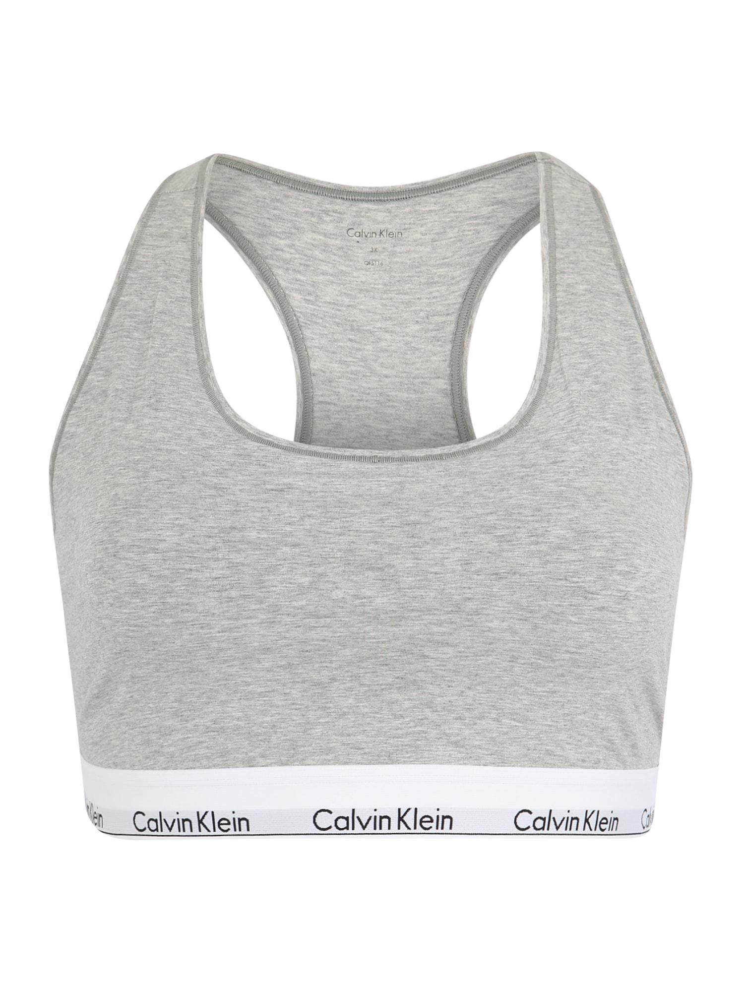 Podprsenka UNLINED BRALETTE šedý melír Calvin Klein Underwear