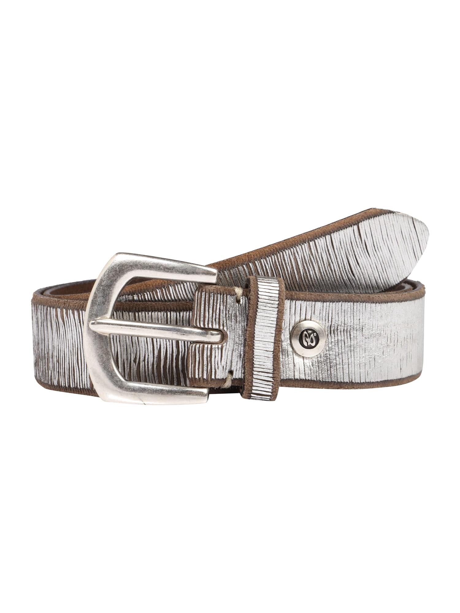 Ledergürtel im Metallic-Look   Accessoires > Gürtel > Ledergürtel   Braun - Silber   B.belt Handmade In Germany