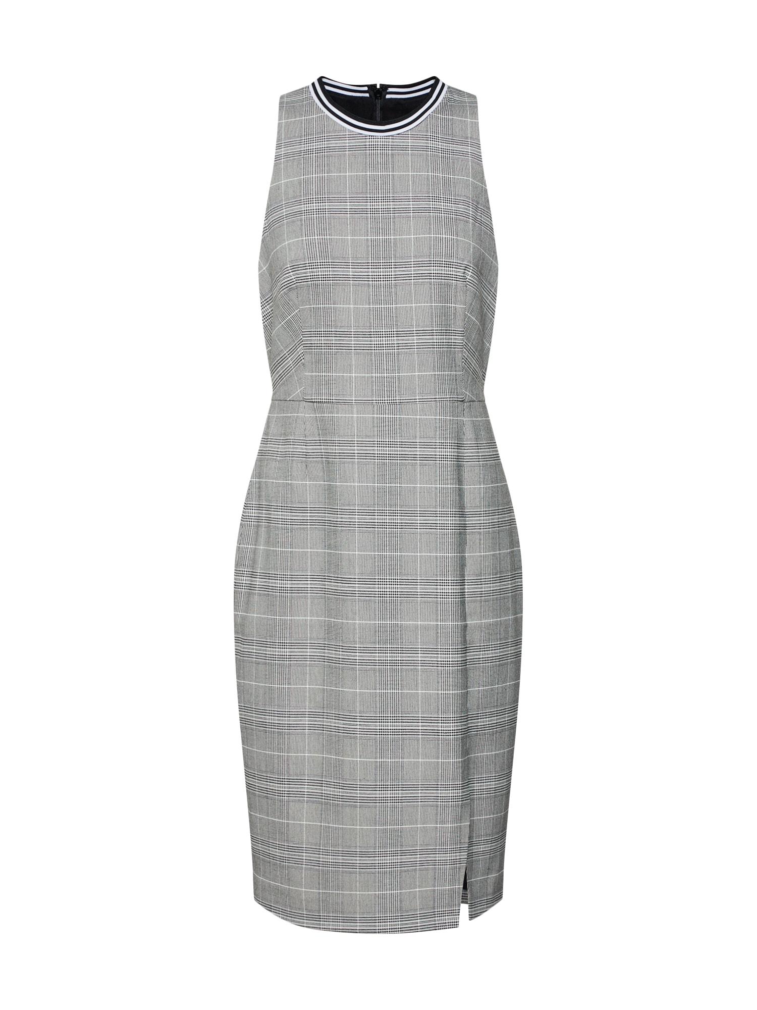 Pouzdrové šaty SL RIB TRIM SHEATH DRESS PLAID šedá Banana Republic