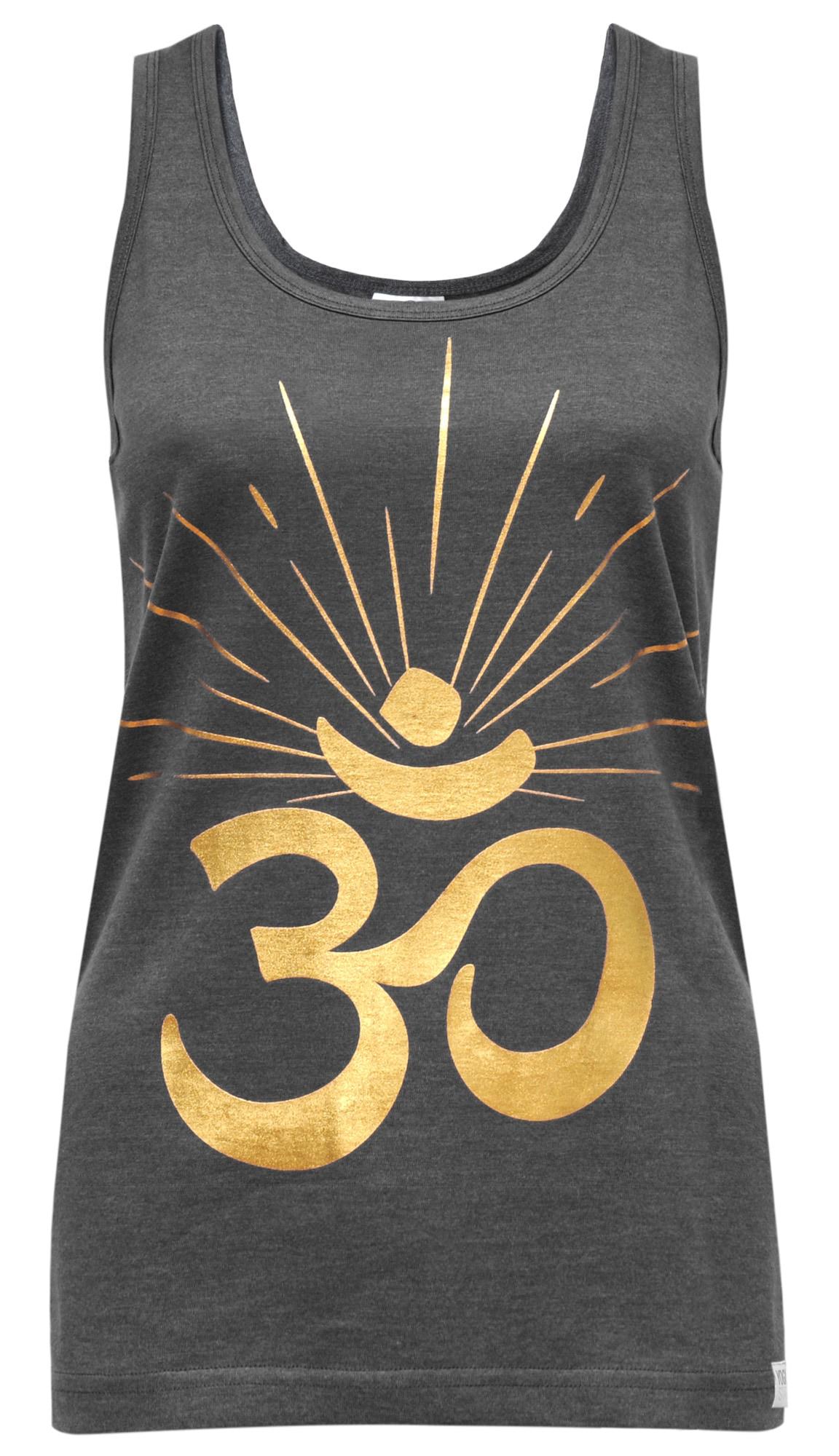 Yoga-tank-top 'om Sunray'   Bekleidung > Tops > Tanktops   Gold - Dunkelgrau   YOGISTAR.COM