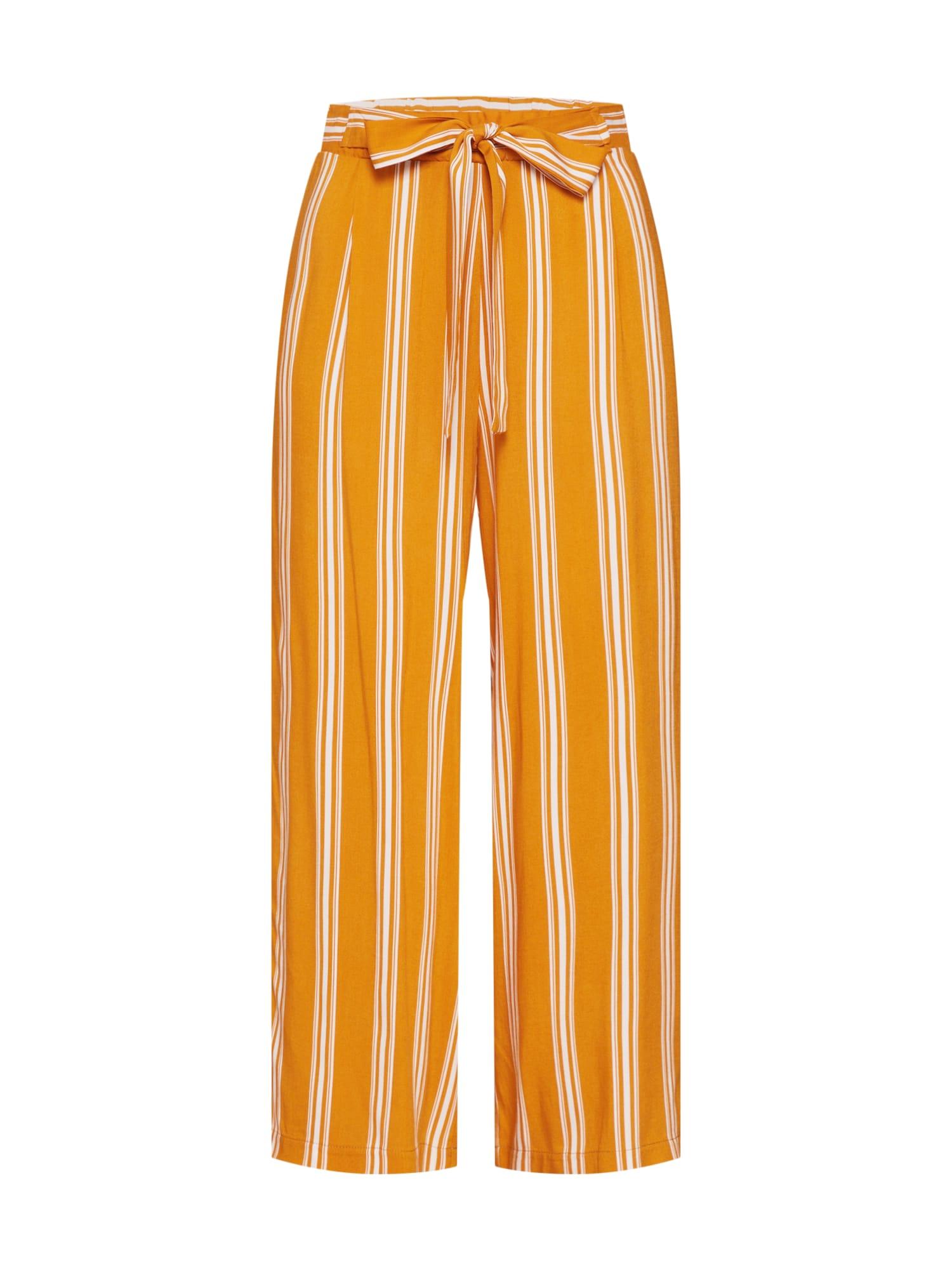 Kalhoty se sklady v pase Leonore hořčicová ABOUT YOU