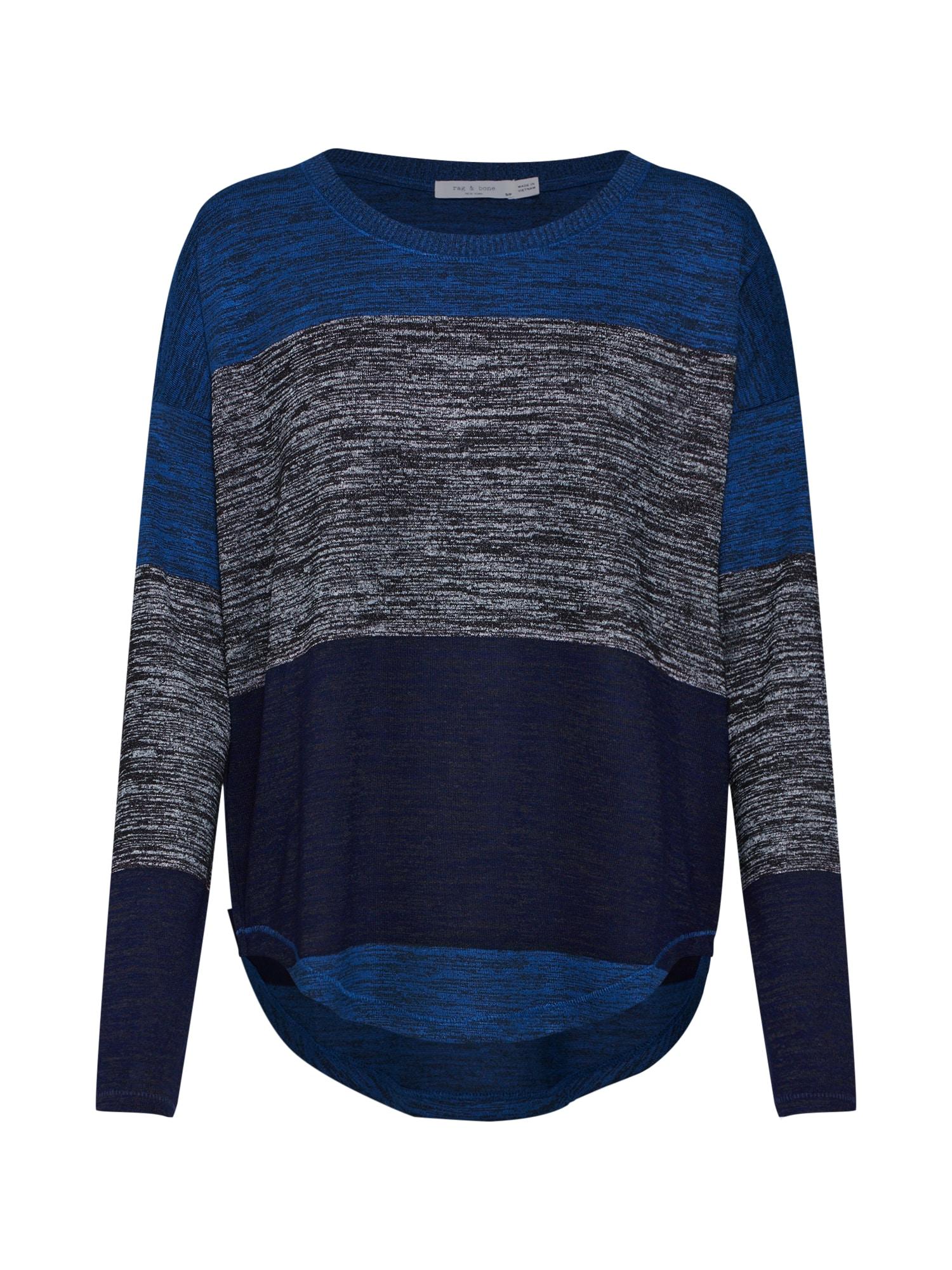 Svetr Stripe Hudson modrá tmavě šedá Rag & Bone