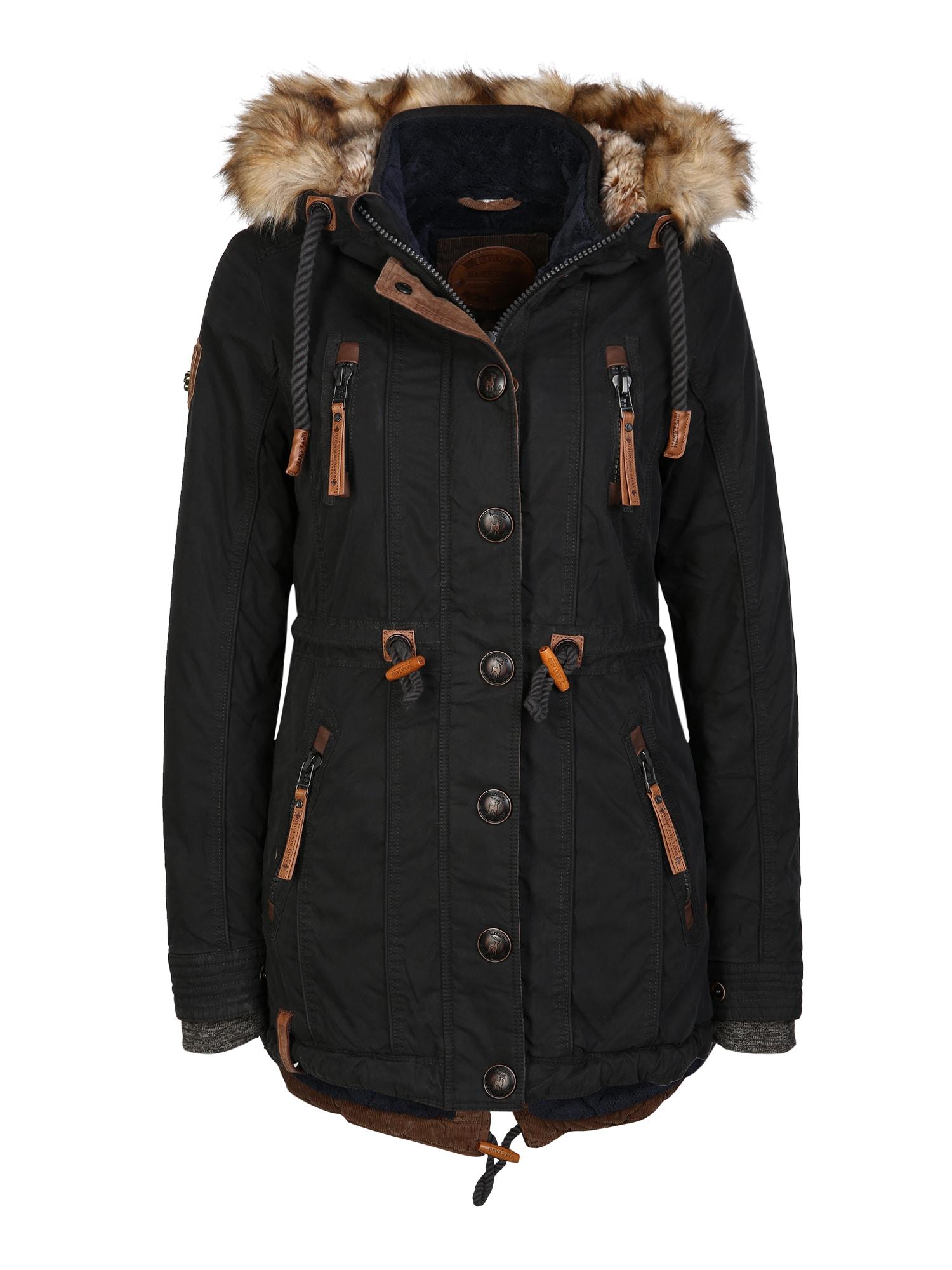 Zimní kabát Procrastinator černá Naketano