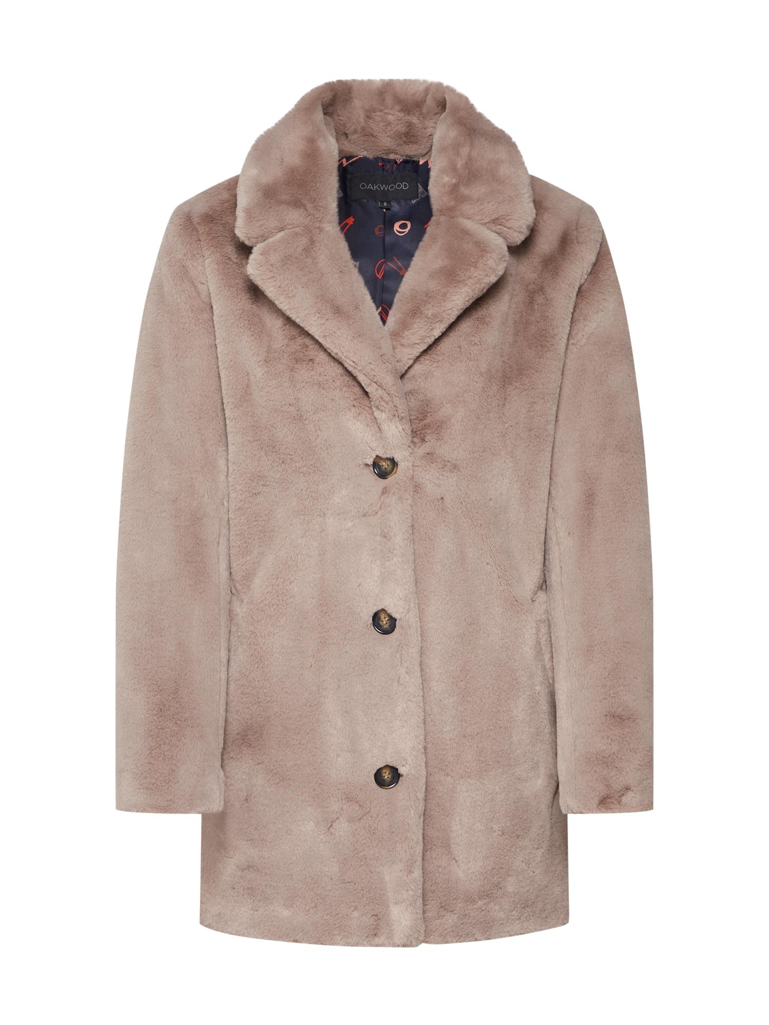 Zimní kabát User světle béžová OAKWOOD