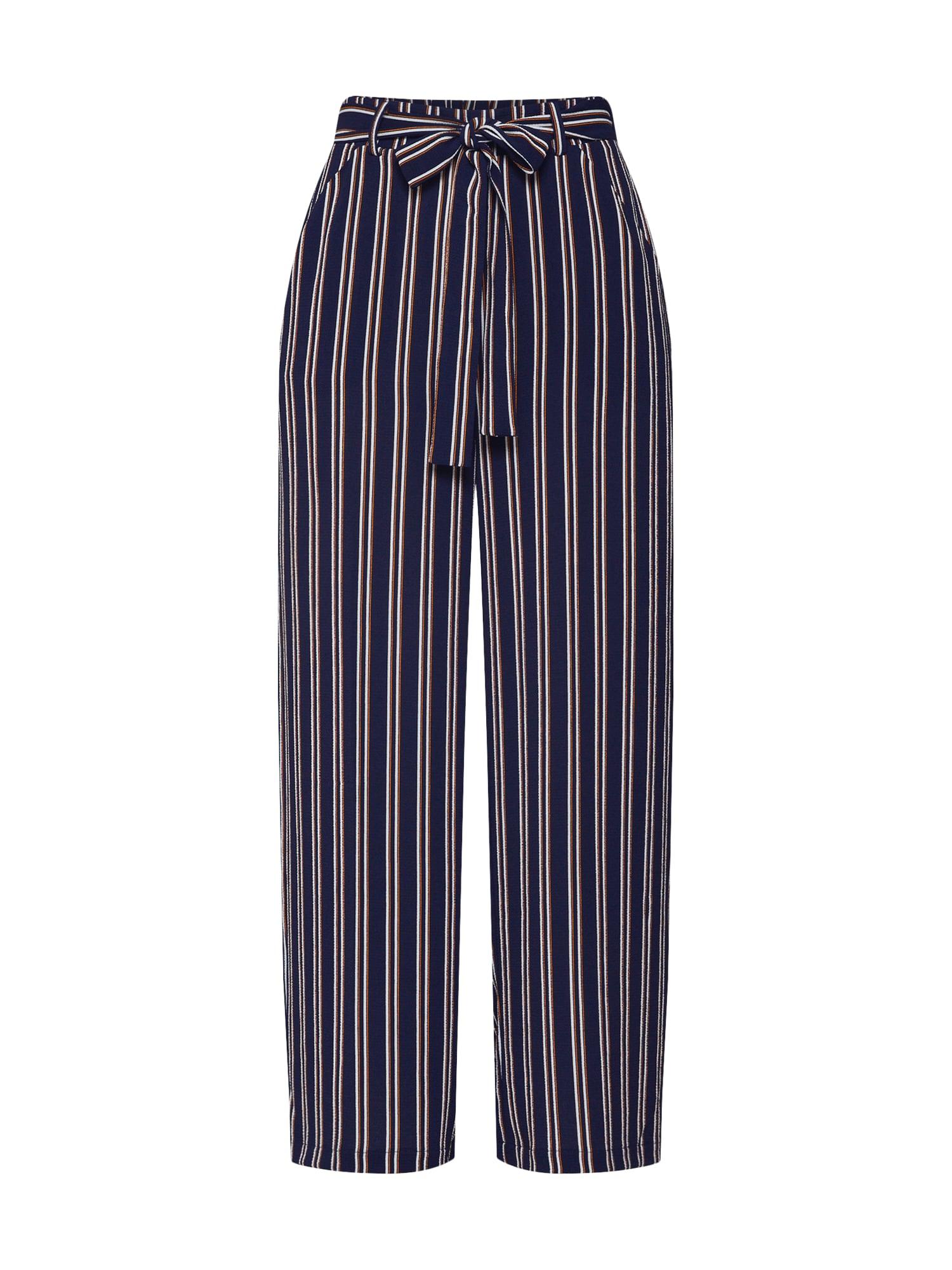 Kalhoty Nellie námořnická modř tmavě oranžová bílá PIECES