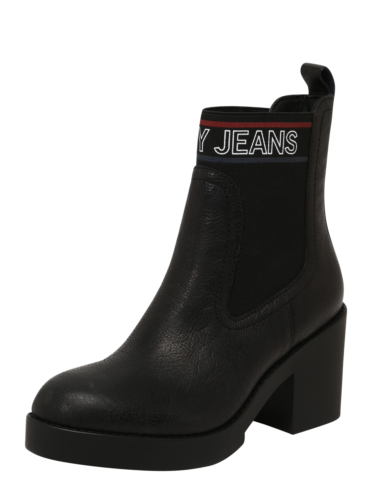 Chelsea boty CORPORATE ELASTIC LEATHER BOOT černá Tommy Jeans