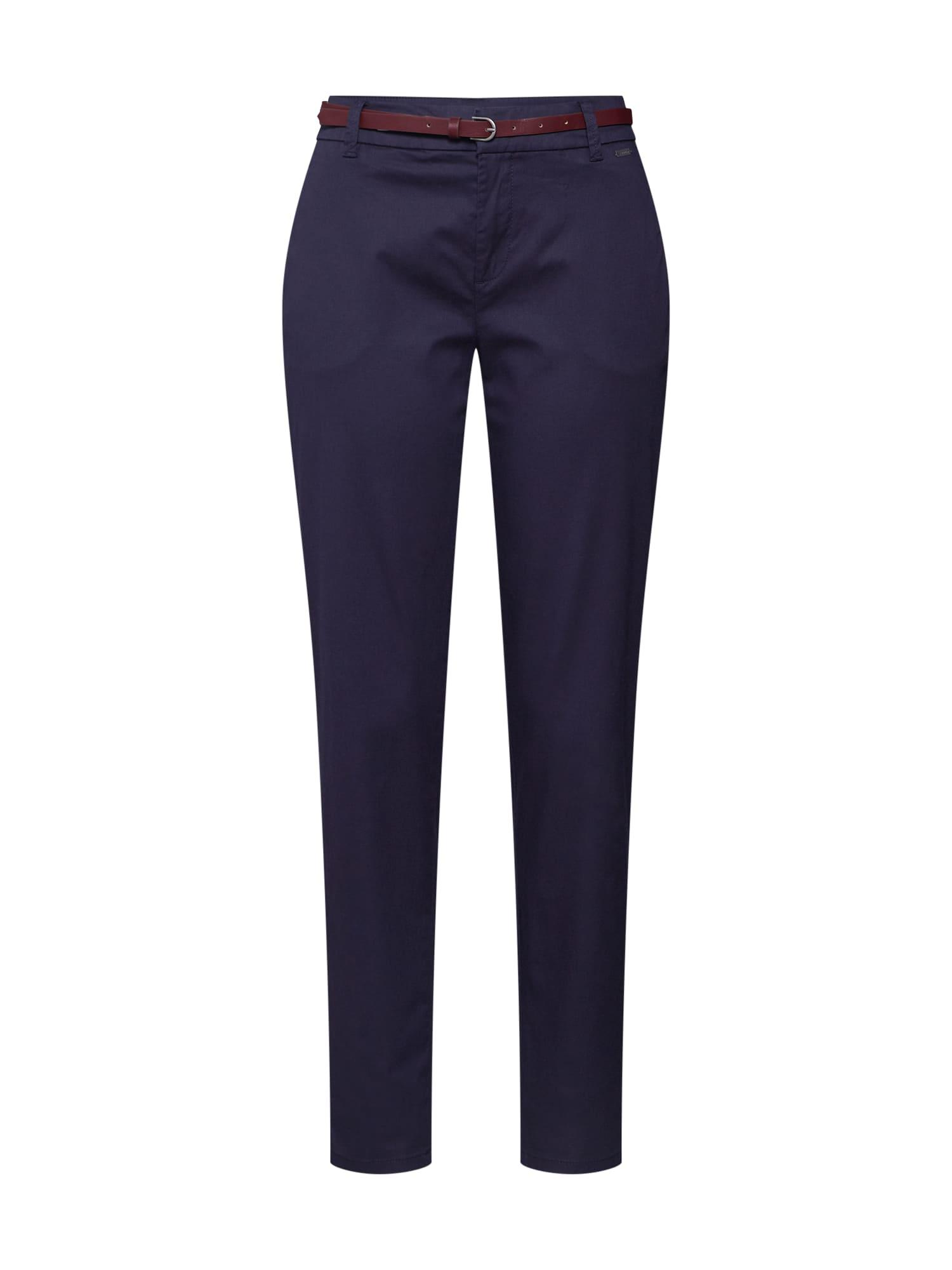 Chino kalhoty Chino Slim námořnická modř ESPRIT