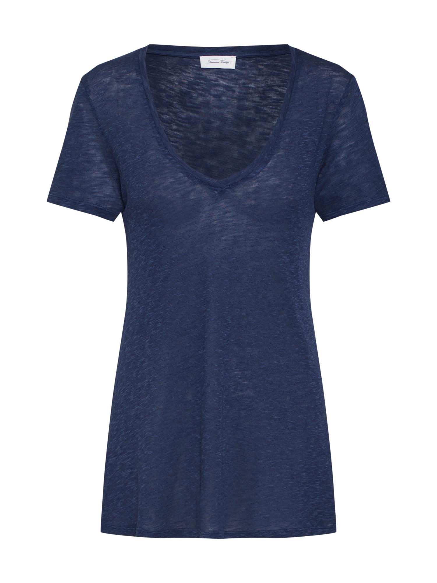 Tričko KOBI57H19 tmavě modrá AMERICAN VINTAGE