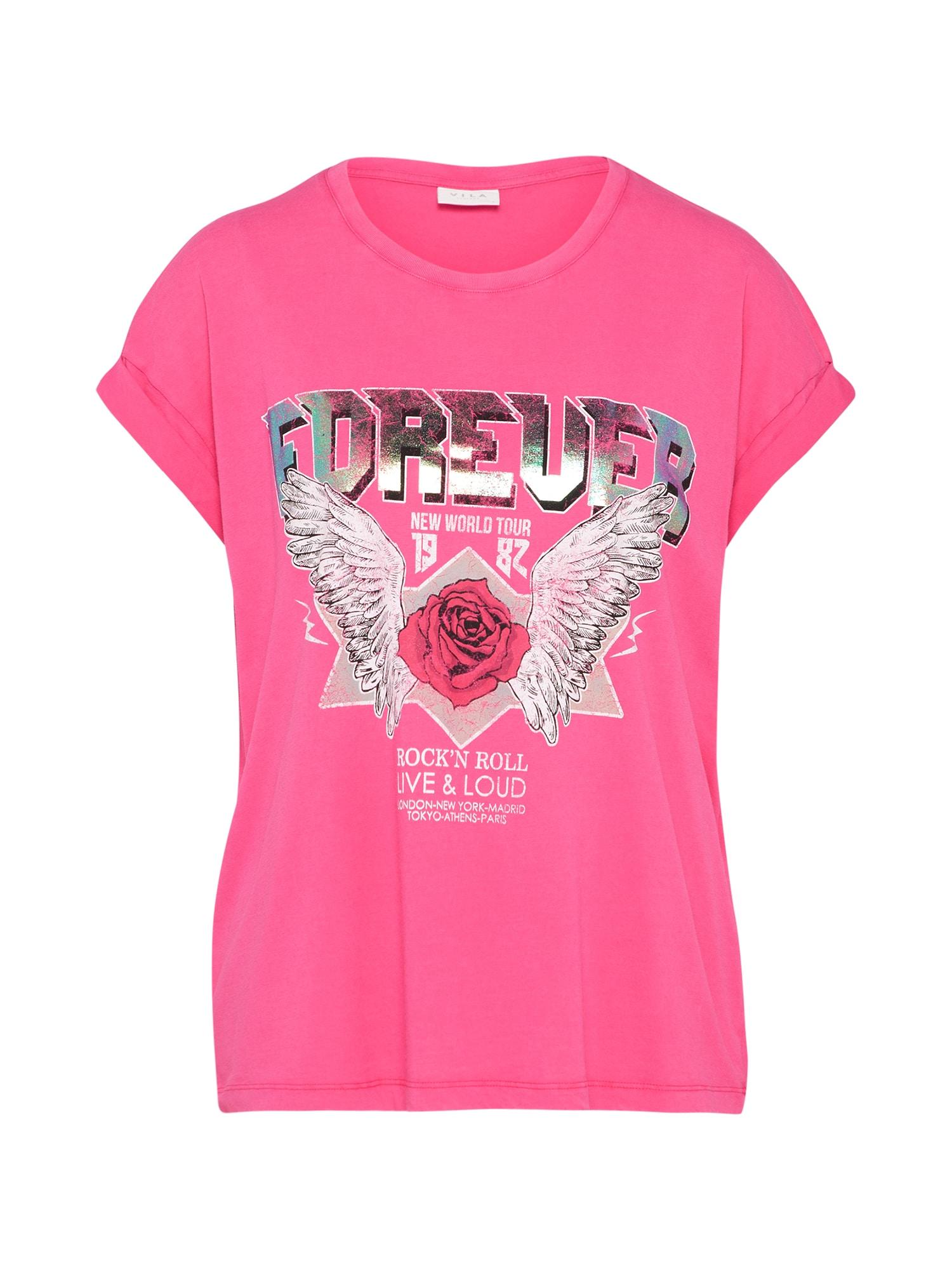 Tričko VIEVY pink stříbrná VILA
