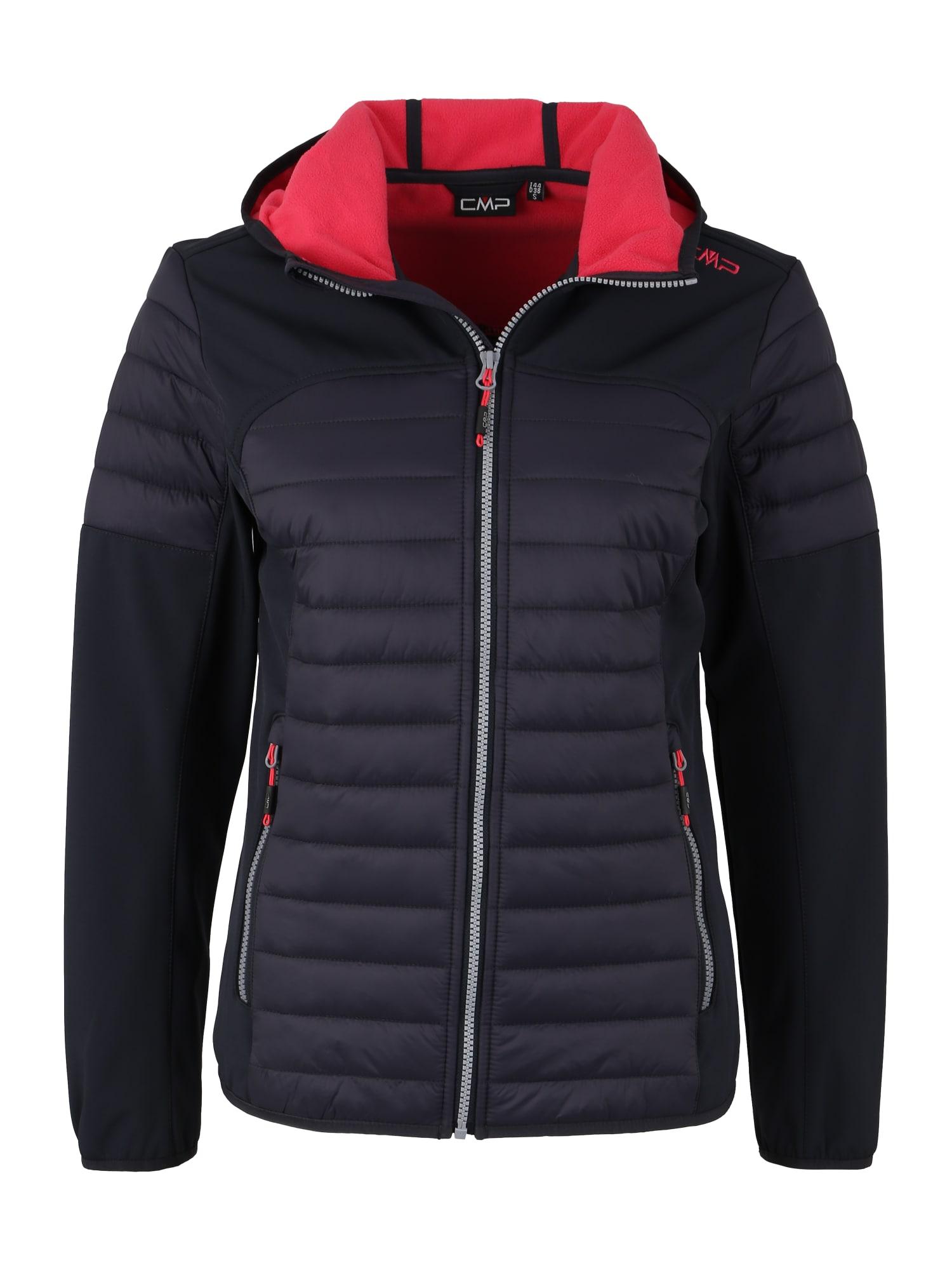 Outdoorová bunda tmavě šedá brusinková CMP