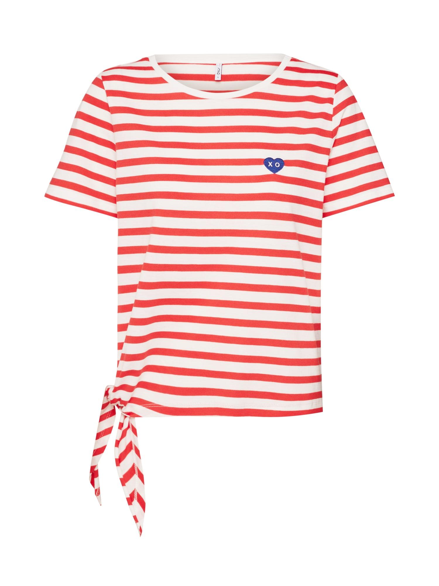 Tričko onlfBRAVE červená bílá ONLY