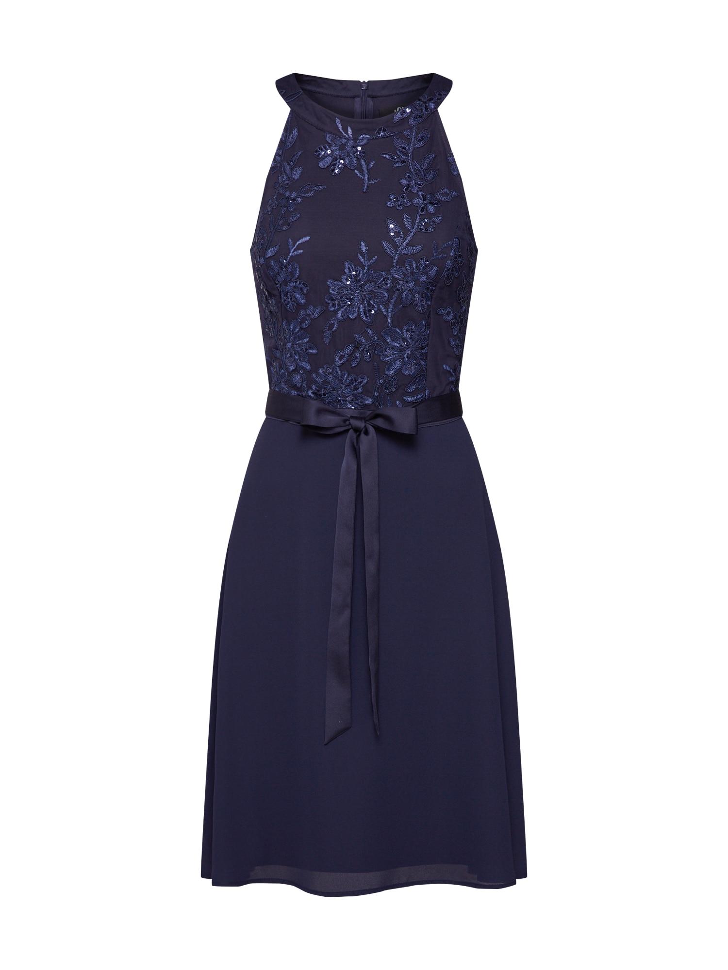 Koktejlové šaty tmavě modrá S.Oliver BLACK LABEL