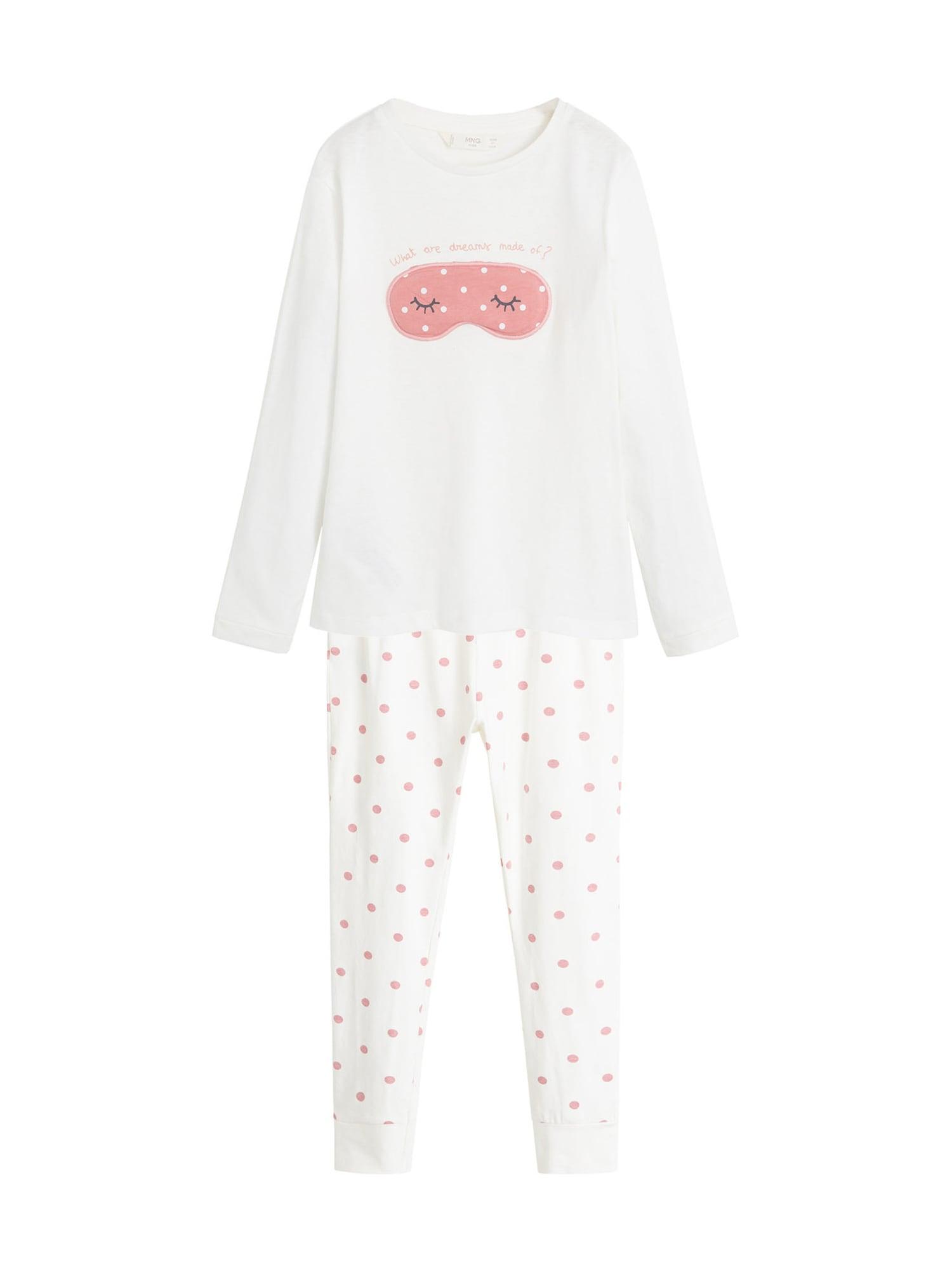 MANGO KIDS Pyžamo  krémová / růže