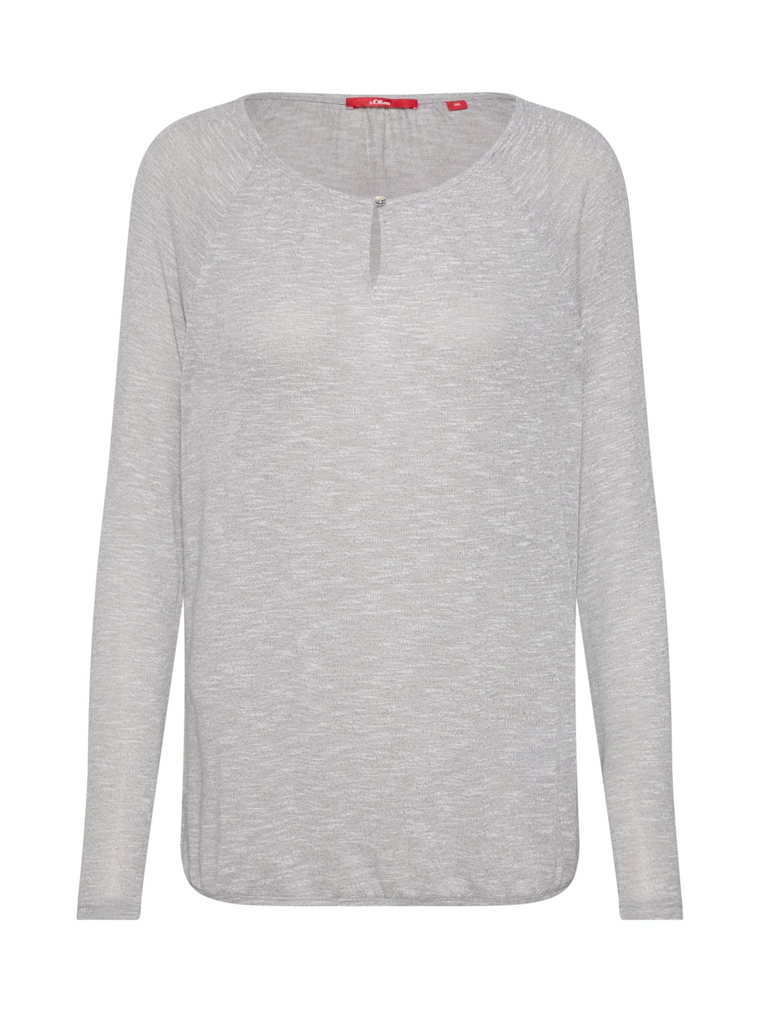 Tričko šedý melír S.Oliver RED LABEL