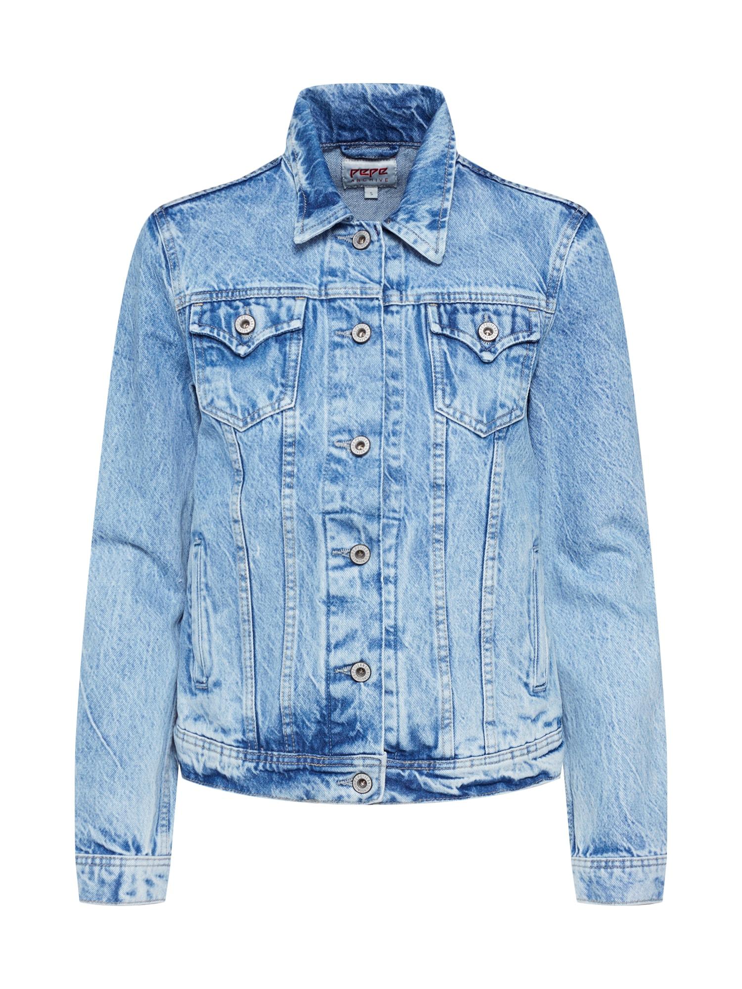 Přechodná bunda Thrift modrá džínovina Pepe Jeans