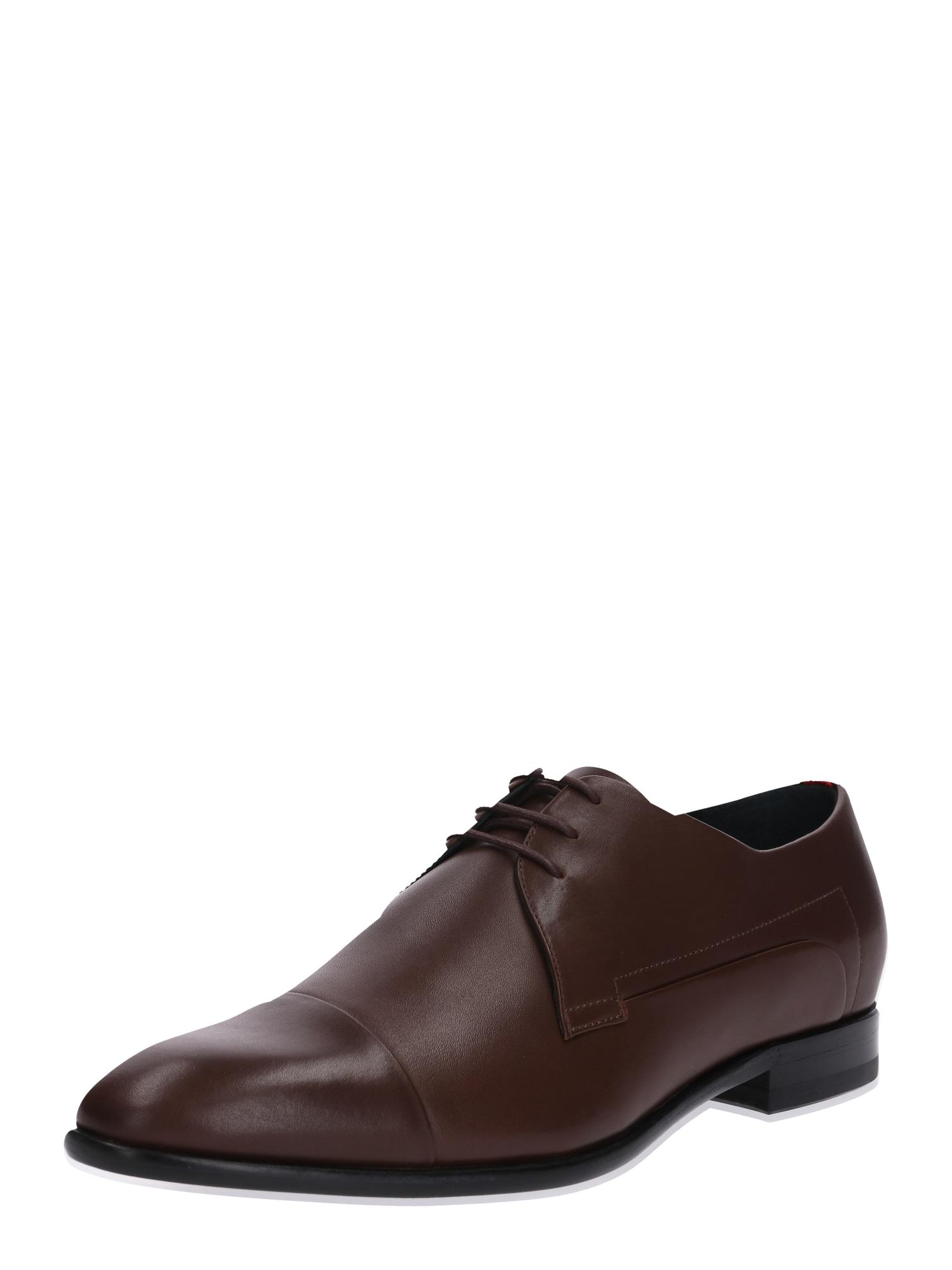 Šněrovací boty hnědá HUGO