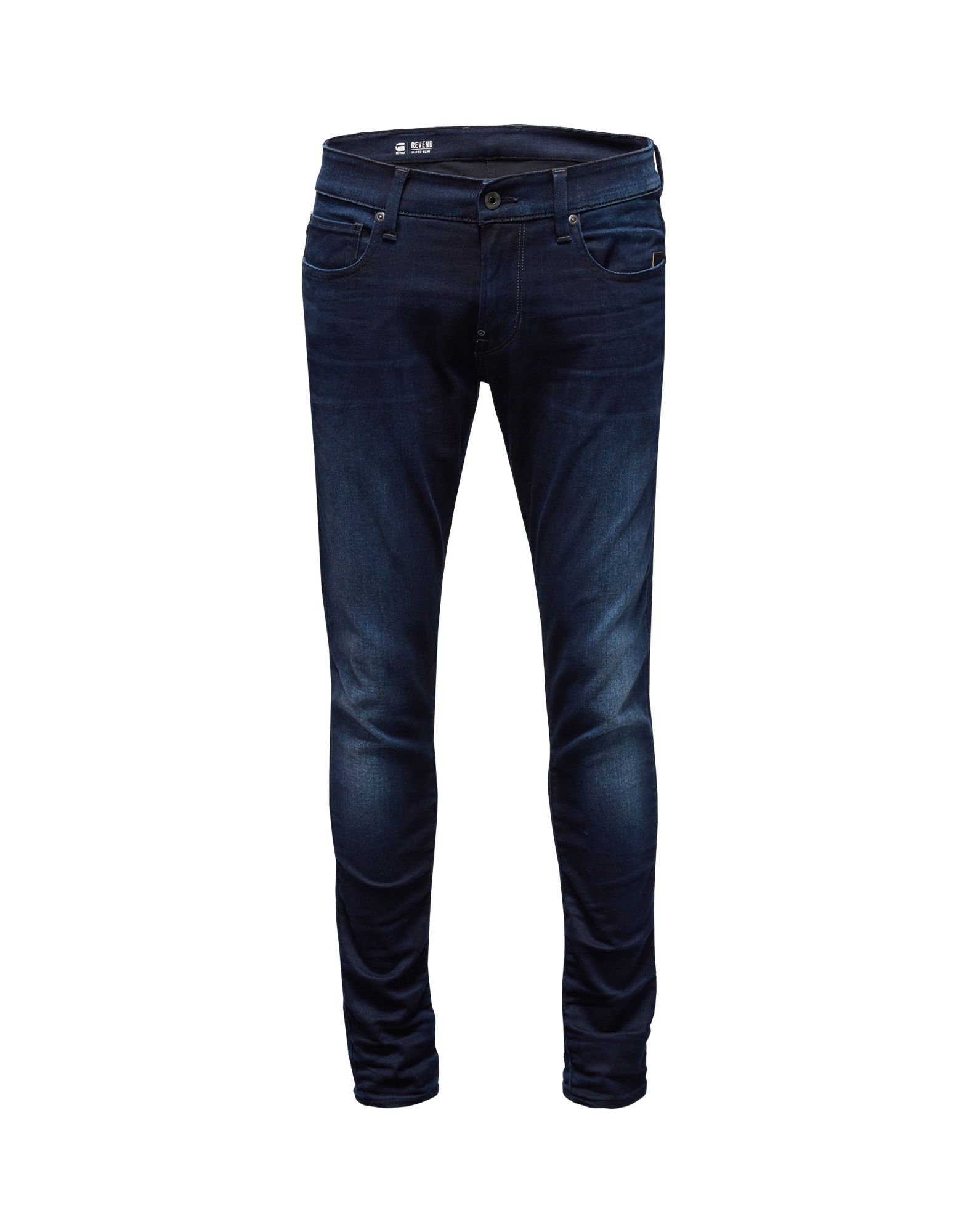 G-STAR RAW Heren Jeans Revend Super Slim blue denim
