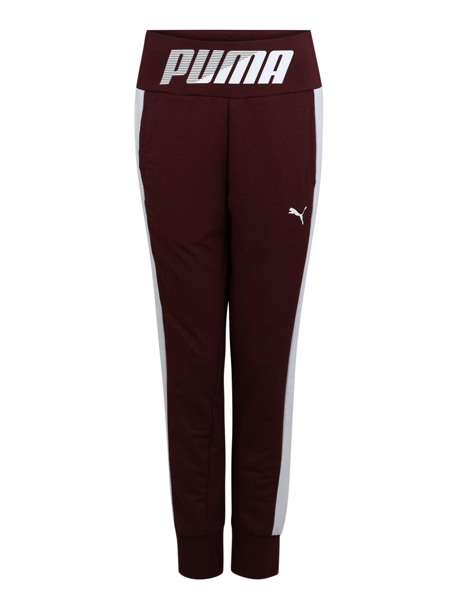 Sportovní kalhoty MODERN SPORT vínově červená bílá PUMA