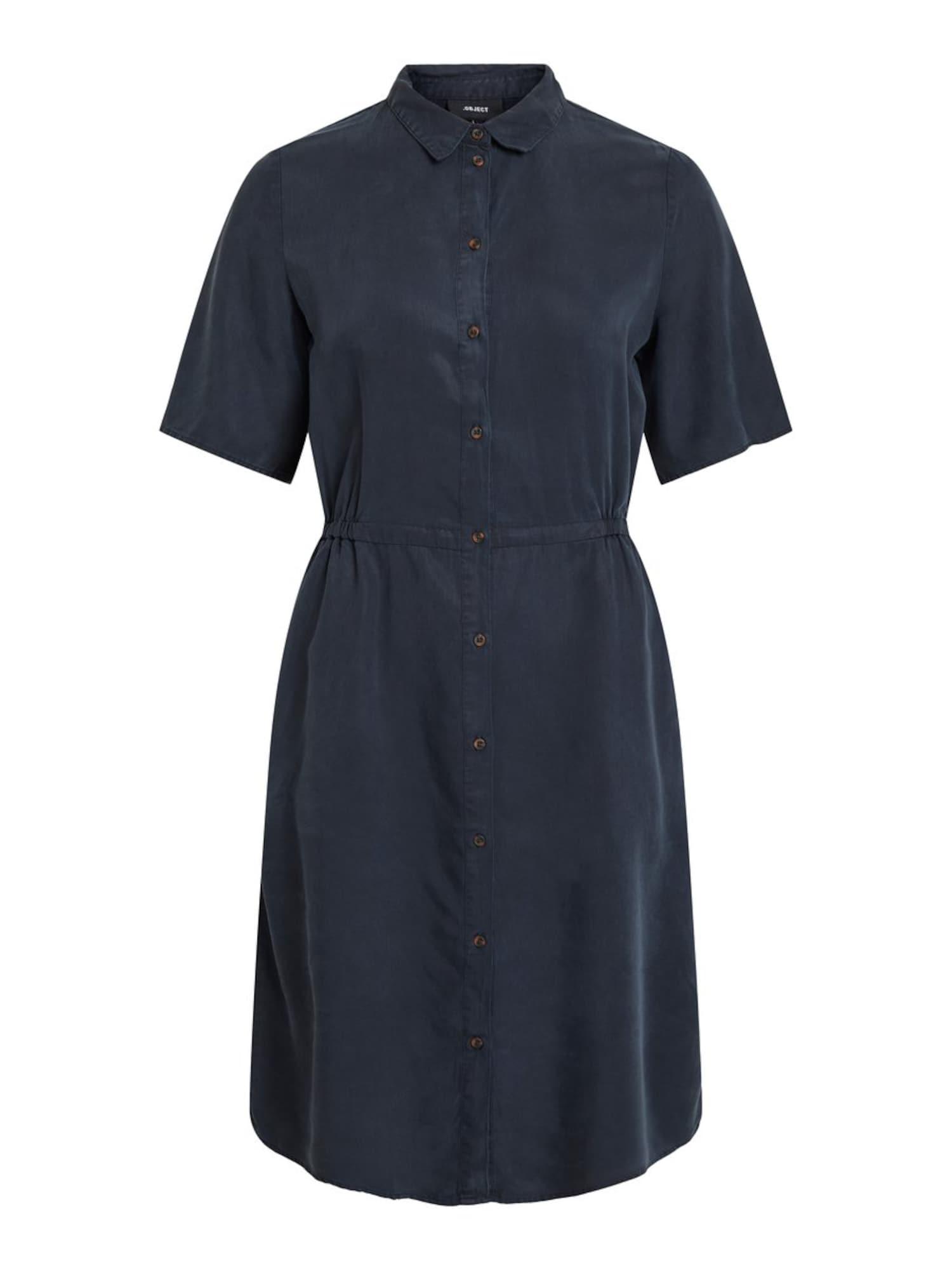 Košilové šaty noční modrá OBJECT