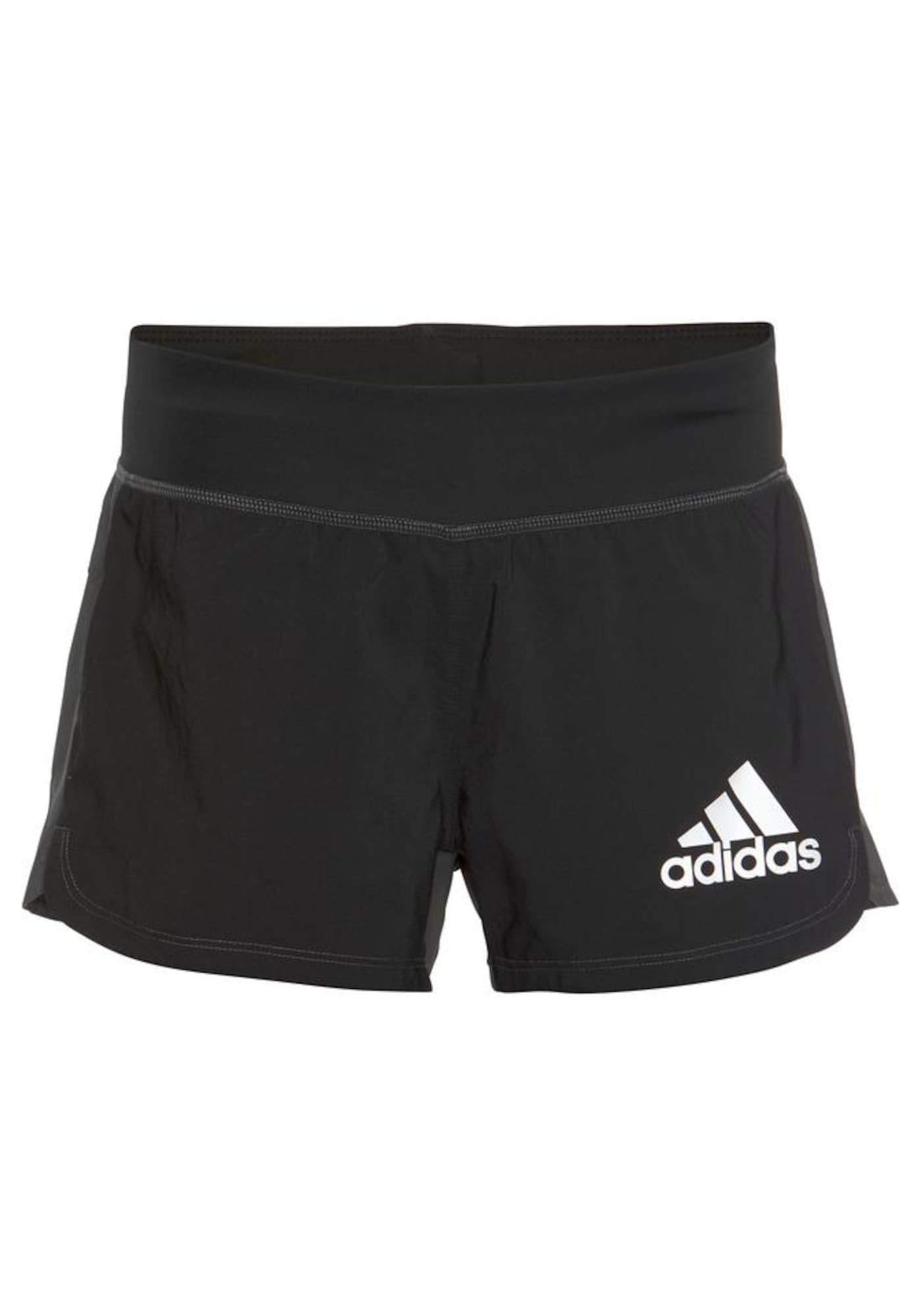 Sportovní kalhoty 2in1 tmavě šedá černá bílá ADIDAS PERFORMANCE