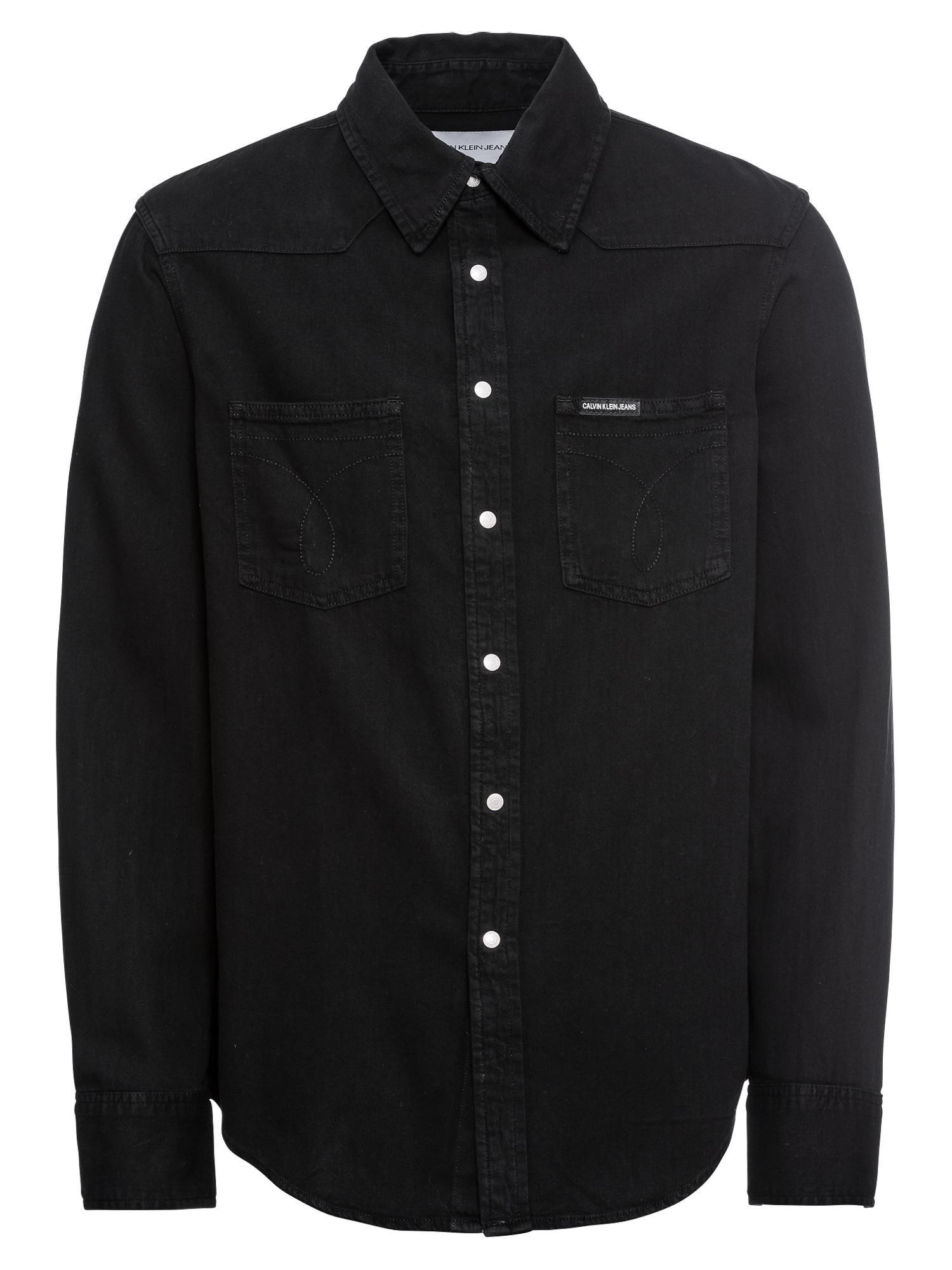 Košile FOUNDATION WESTERN OMEGA černá džínovina Calvin Klein Jeans