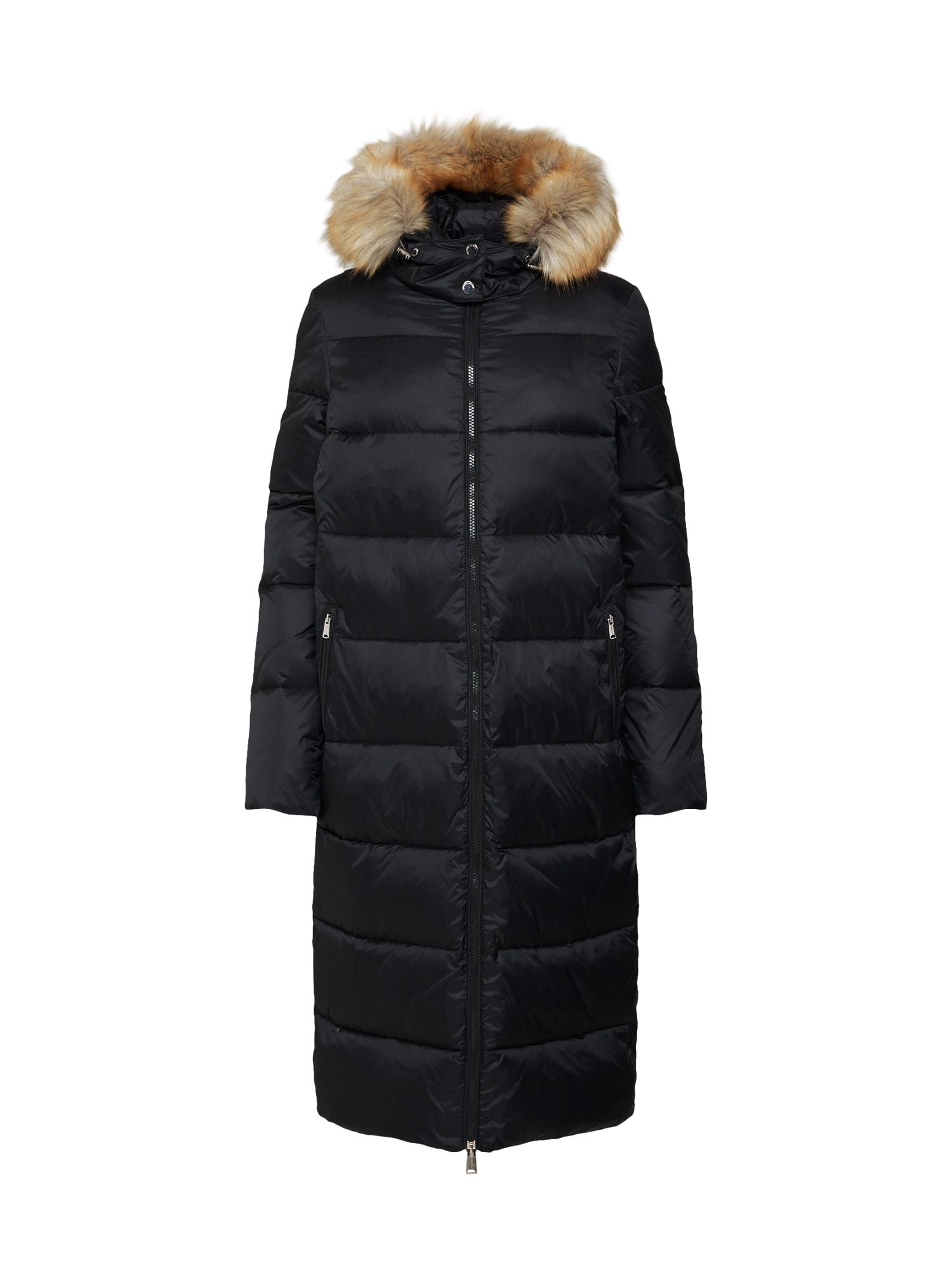 Zimní kabát TJW MODERN HOODED COAT černá Tommy Jeans