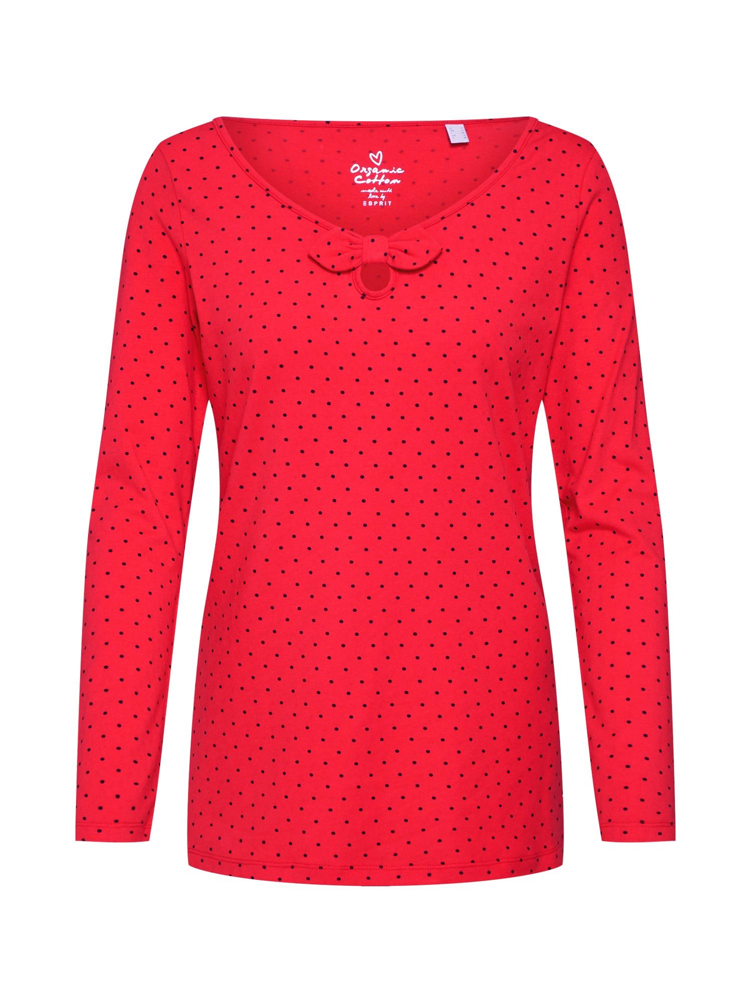 Tričko červená offwhite ESPRIT