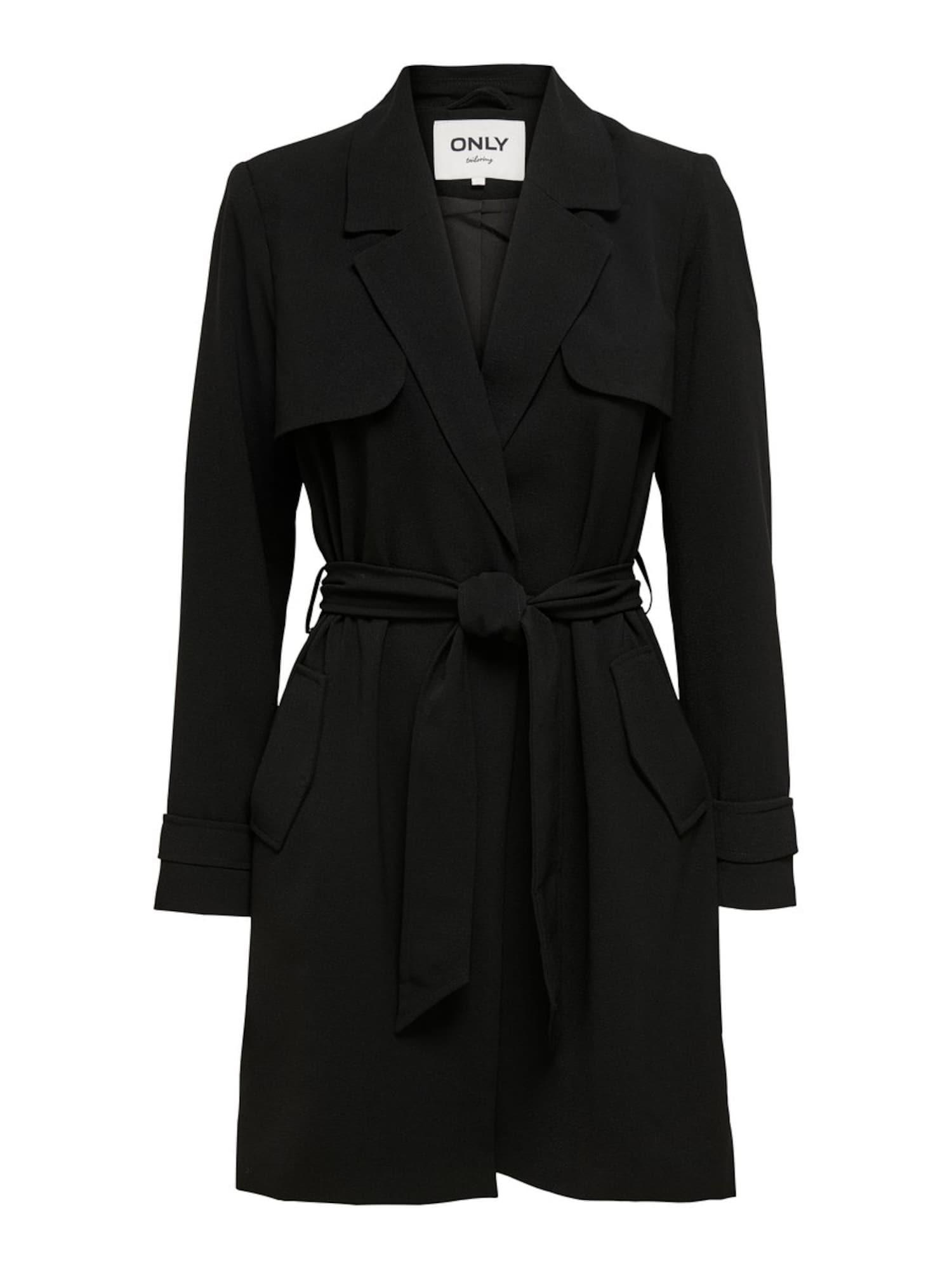 ONLY Prechodný kabát 'FANNY-RUNA'  čierna