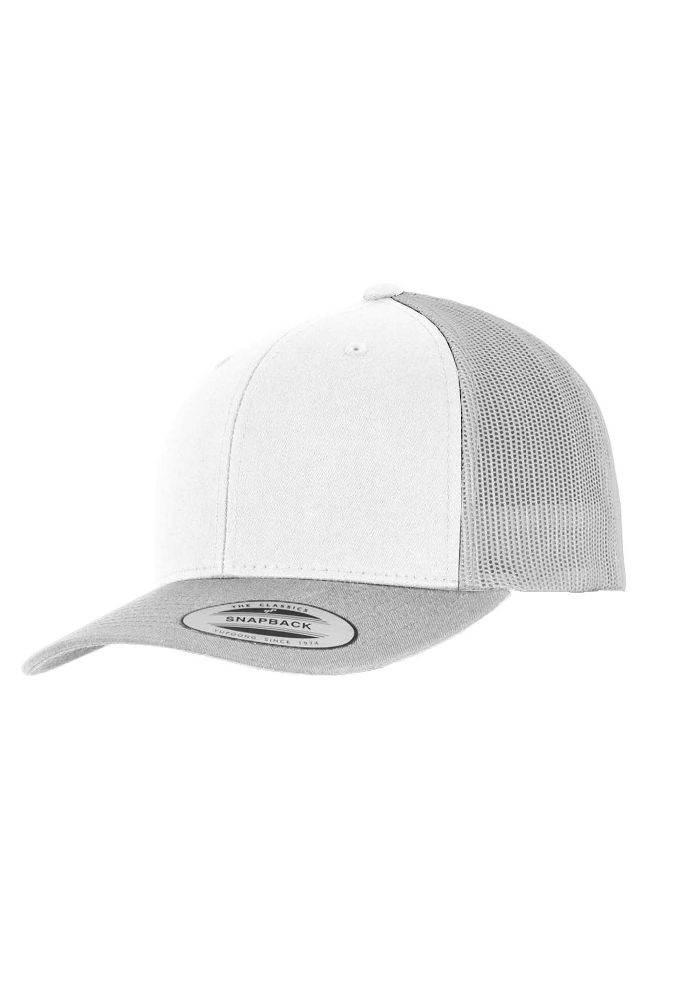 Retro Trucker Cap | Accessoires > Caps | Silber - Weiß | Flexfit