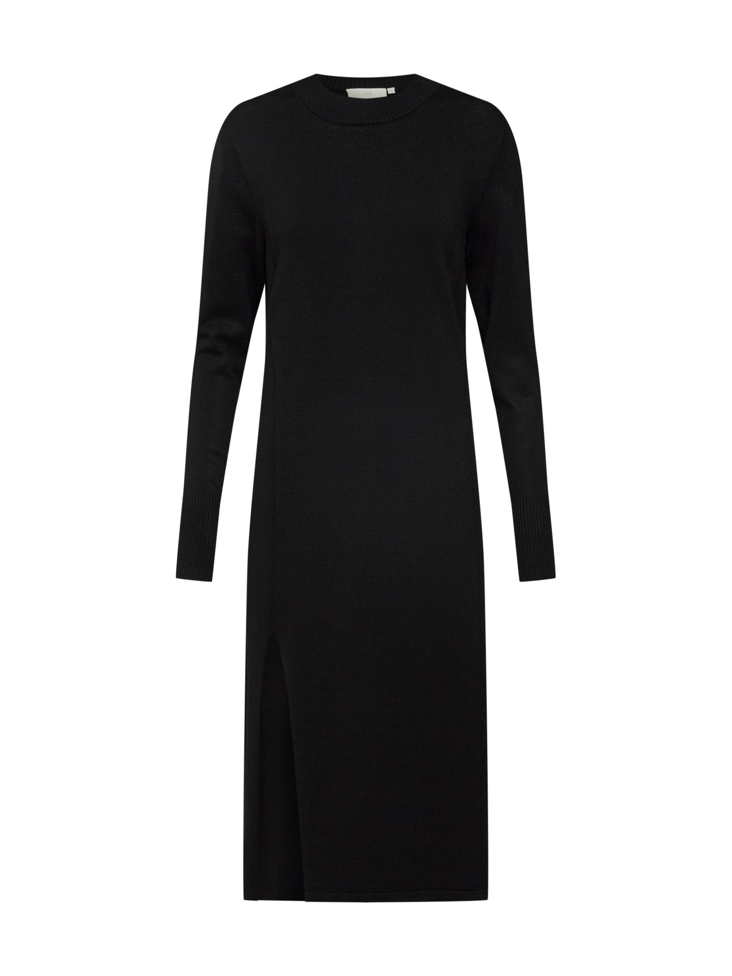 Úpletové šaty Jamal černá Kaffe