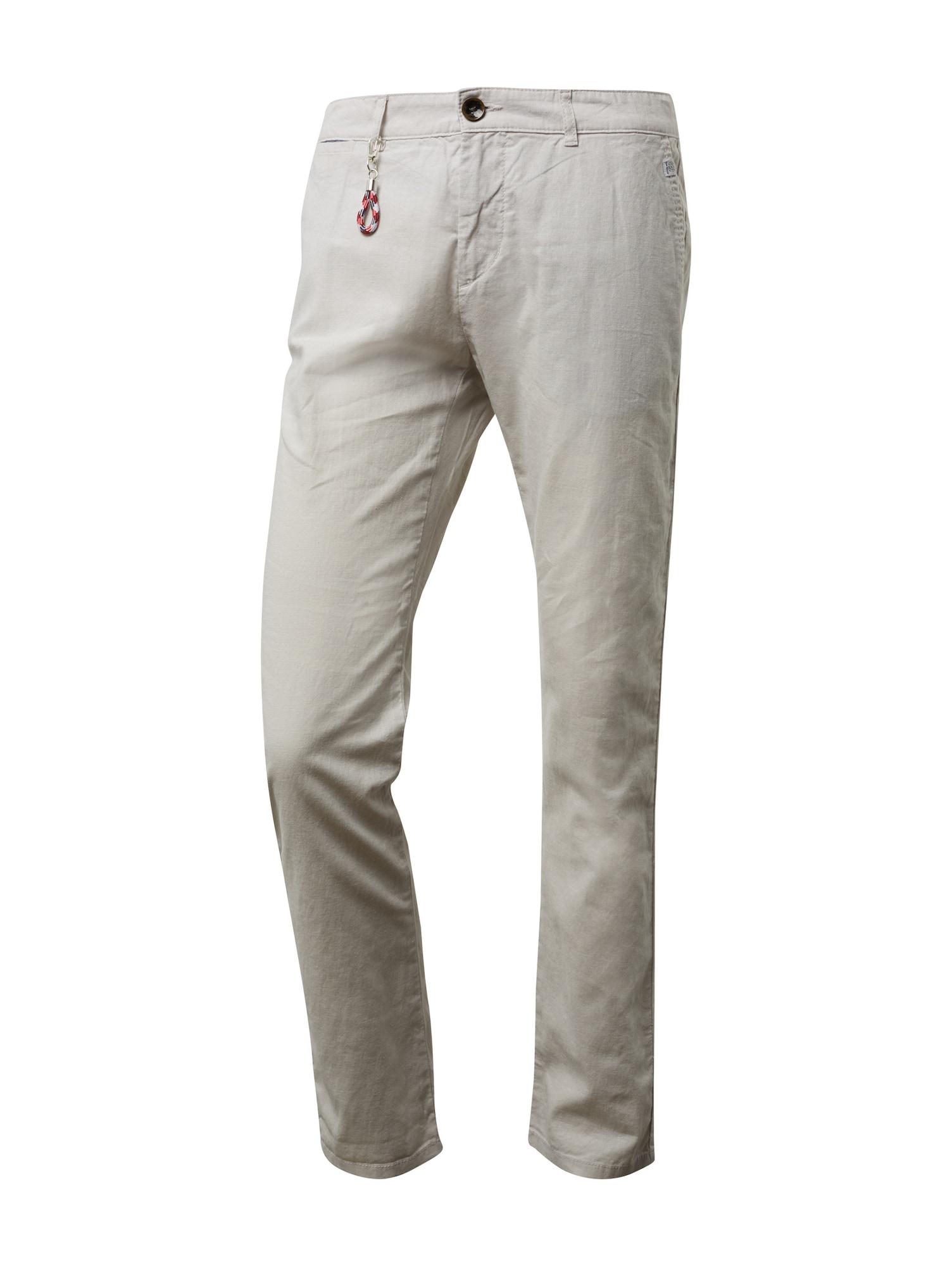 Chino kalhoty Travis světle šedá TOM TAILOR
