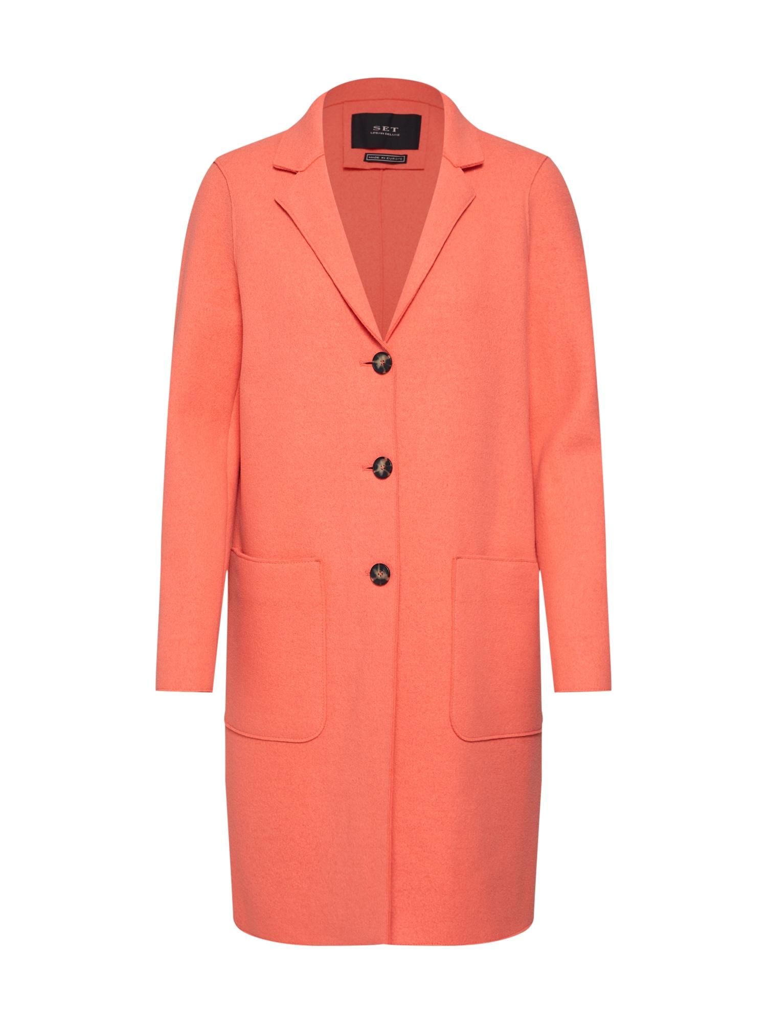 Přechodný kabát oranžově červená SET